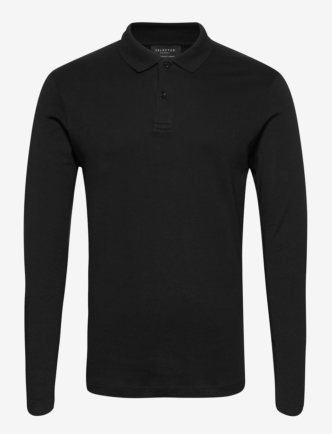 Selected Homme - SLHPARIS LS POLO B NOOS - pitkähihaiset - black - 0