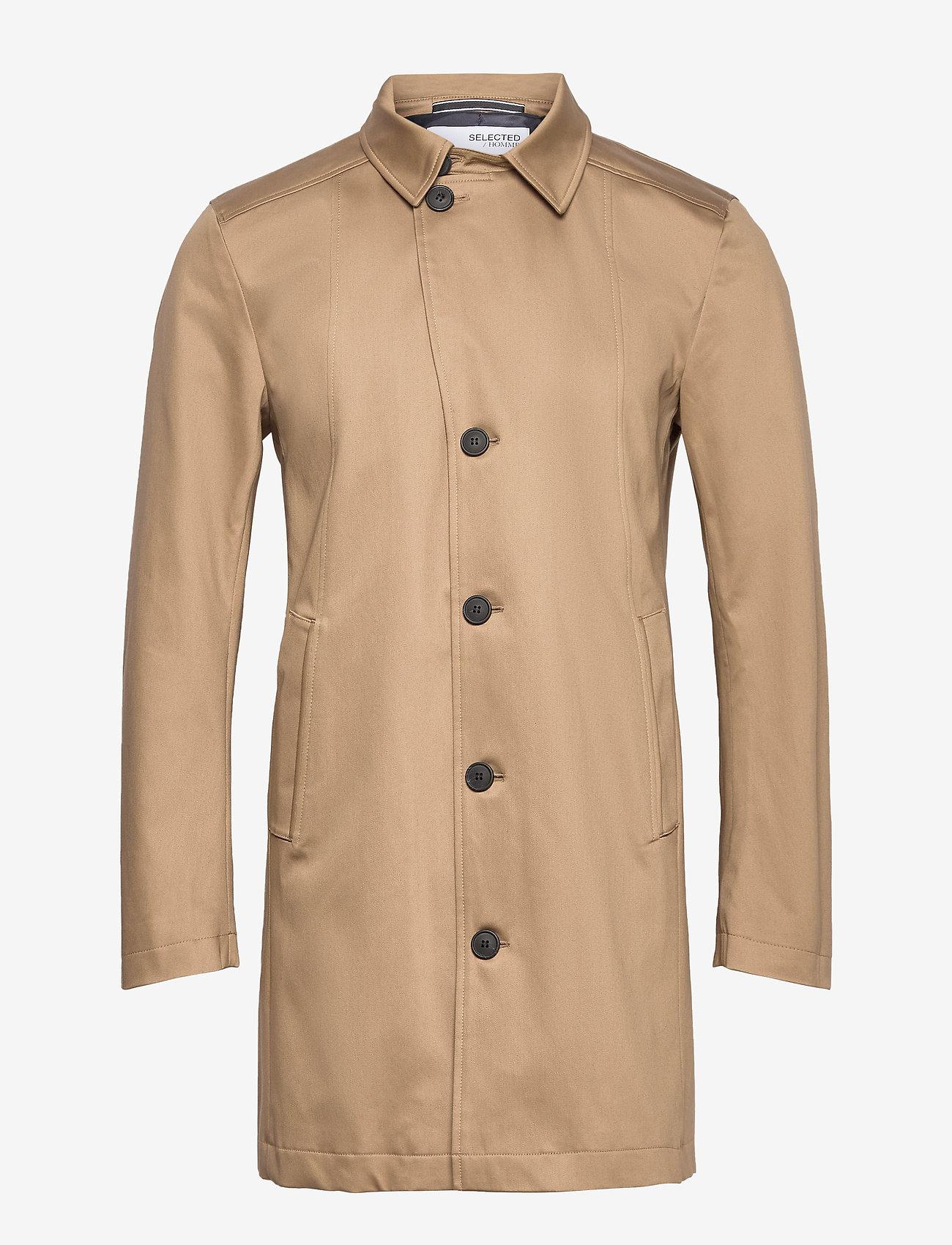 Selected Homme - SLHNEW TIMELESS COAT - manteaux legères - petrified oak - 0