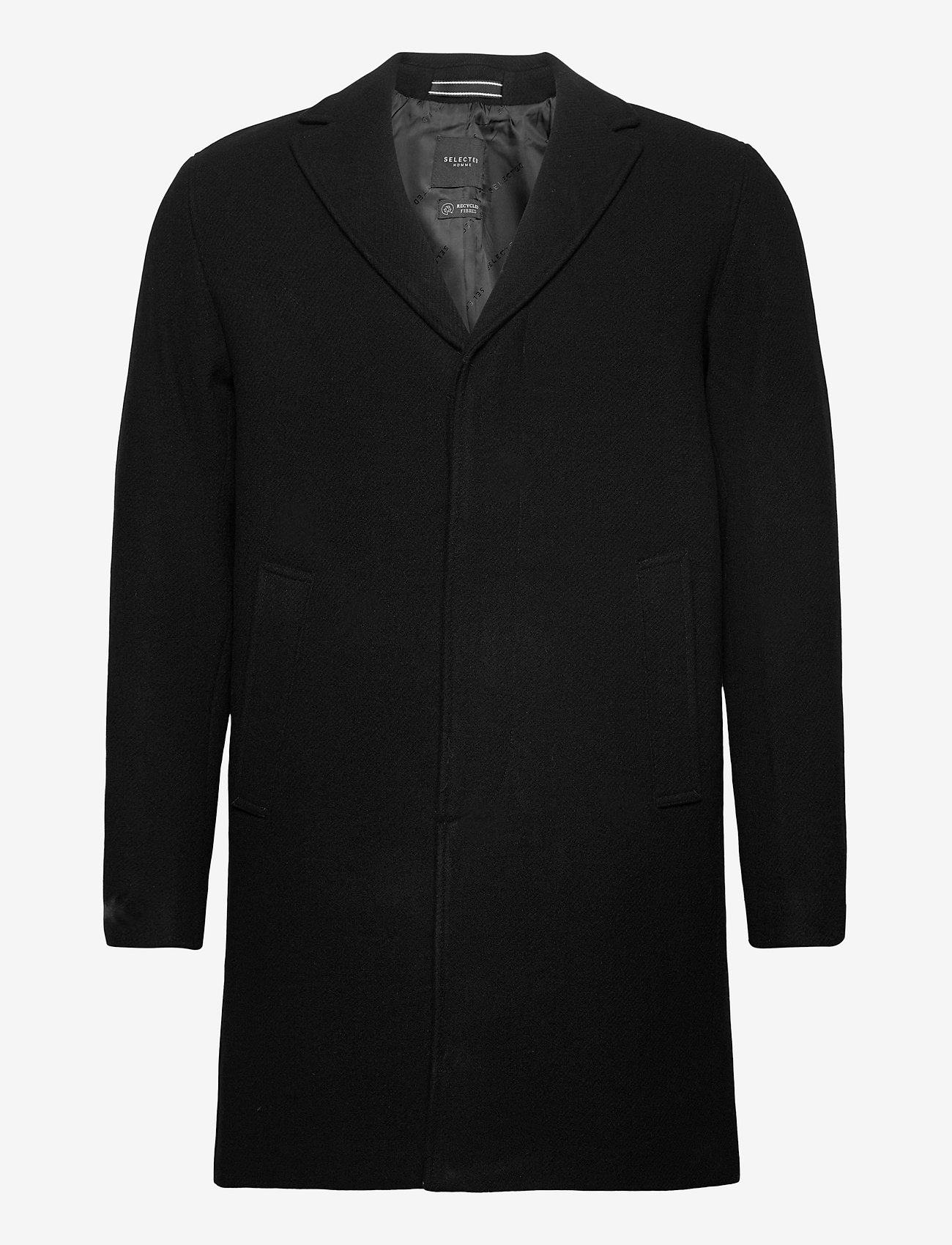 Selected Homme - SLHHAGEN  WOOL COAT B - wollen mantels - black - 0