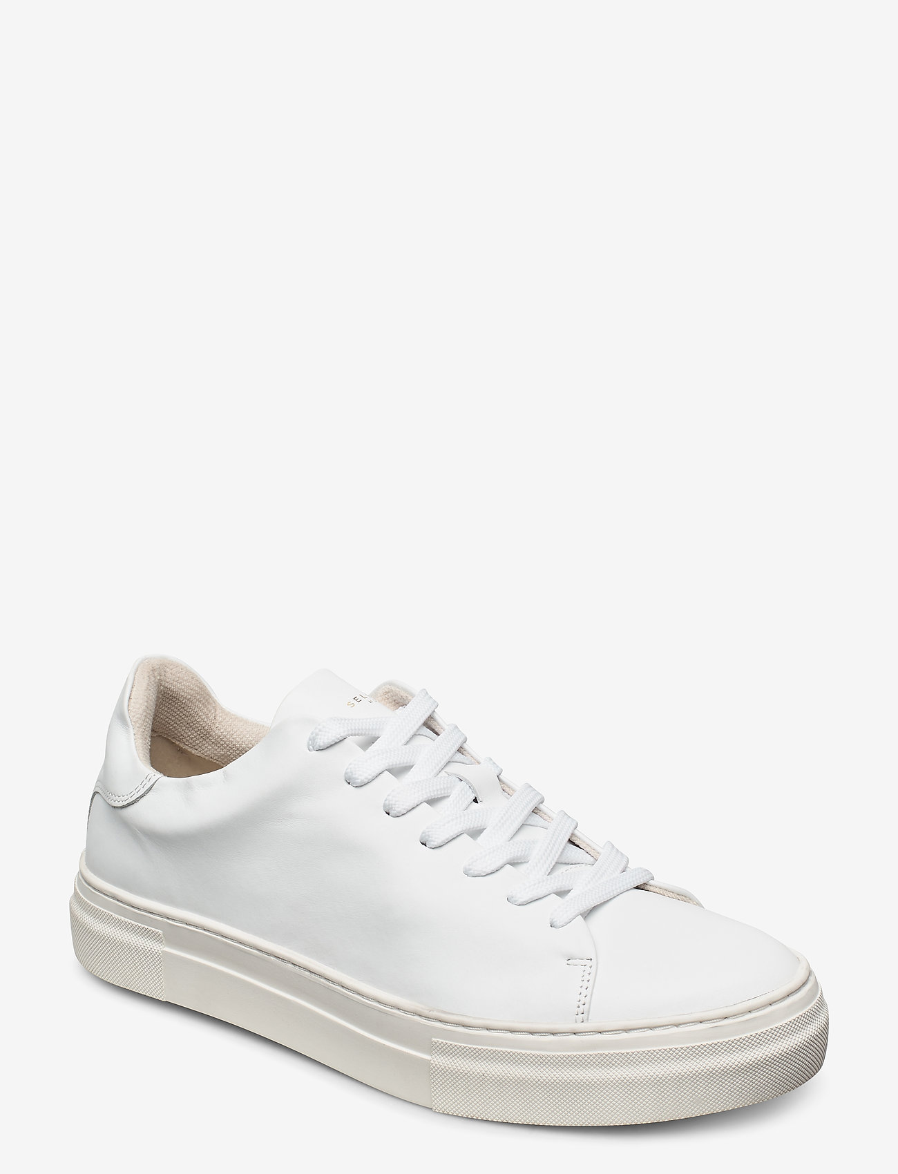 Selected Homme - SLHDAVID CHUNKY CLEAN  LEATHER TRAINER B - laag sneakers - white - 0