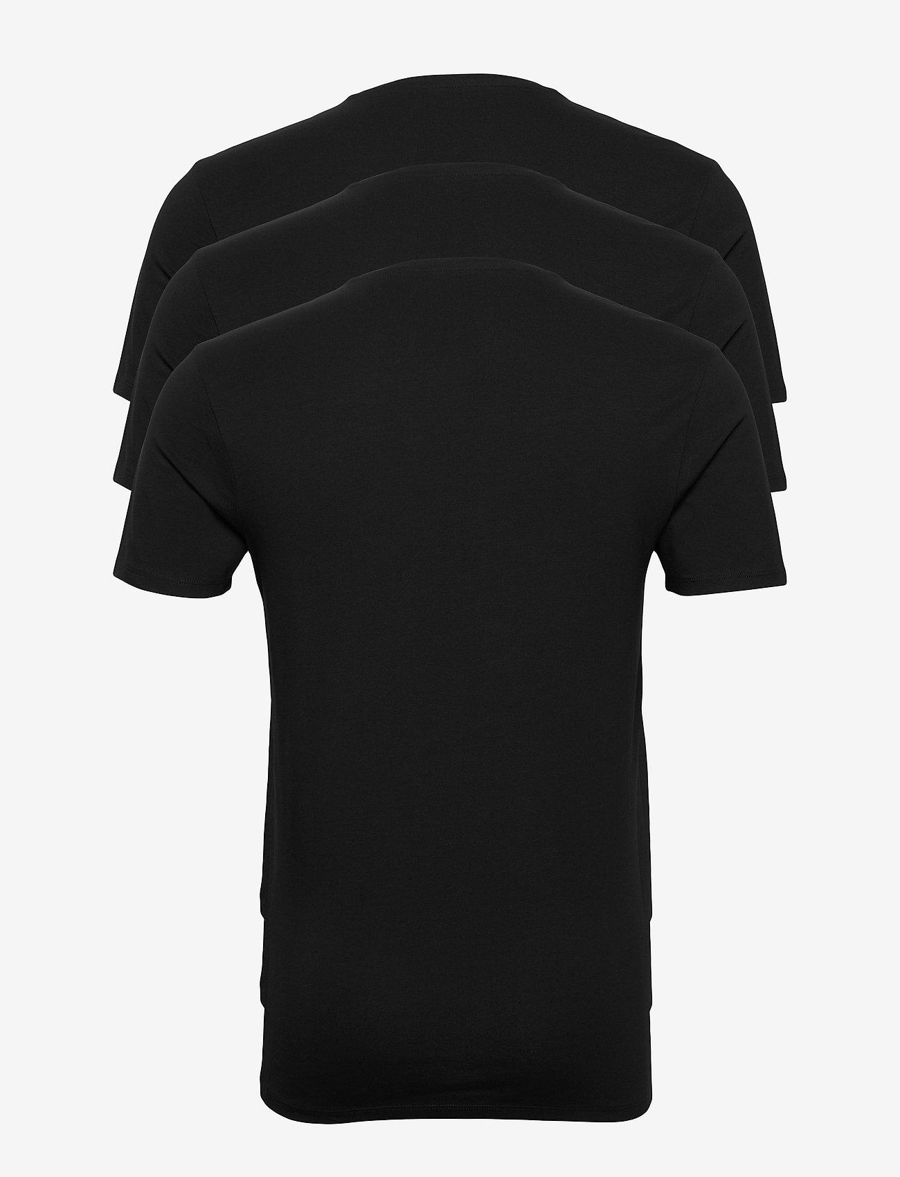 Selected Homme - SLHNEWPIMA SS O-NECK TEE B 3 PACK - basic t-shirts - black - 1