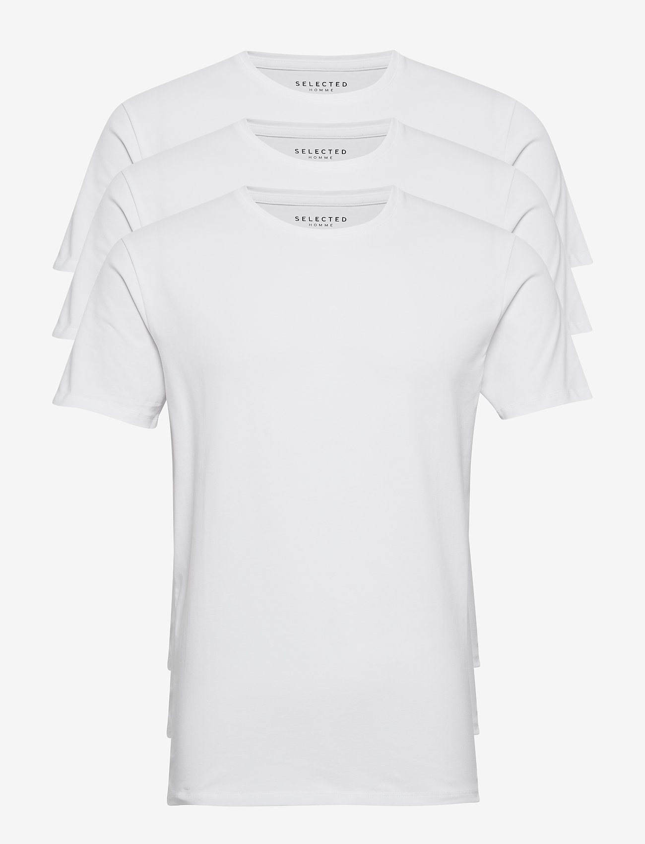 Selected Homme - SLHNEWPIMA SS O-NECK TEE B 3 PACK - multipack - bright white - 0