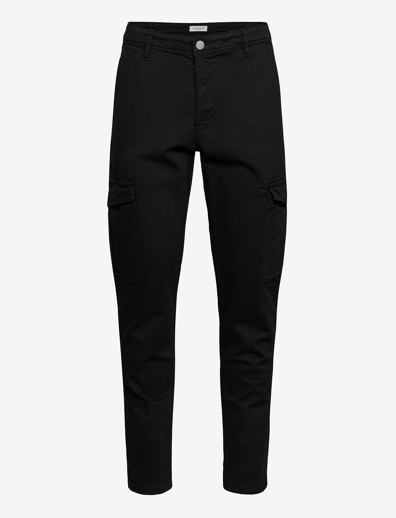 Selected Homme - SLHSLIMCOMFORT-AARON PANTS W - cargobukser - black - 0