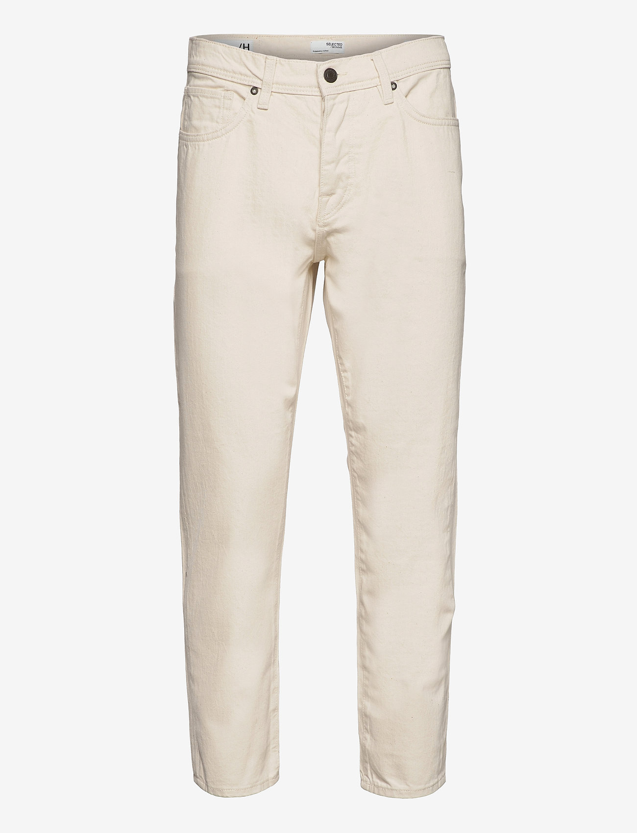 Selected Homme - SLHRELAXCROP-ALDO 4056 ECRU DNM JEANS U - relaxed jeans - egret - 0