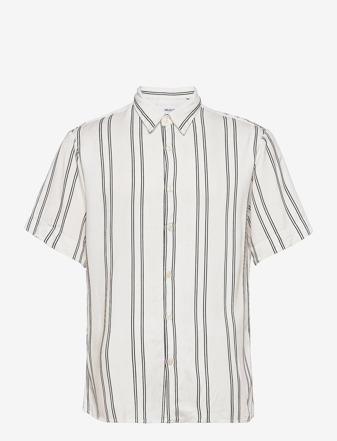 Selected Homme - SLHRELAXBELORG SHIRT SS G - geruite overhemden - bright white - 0