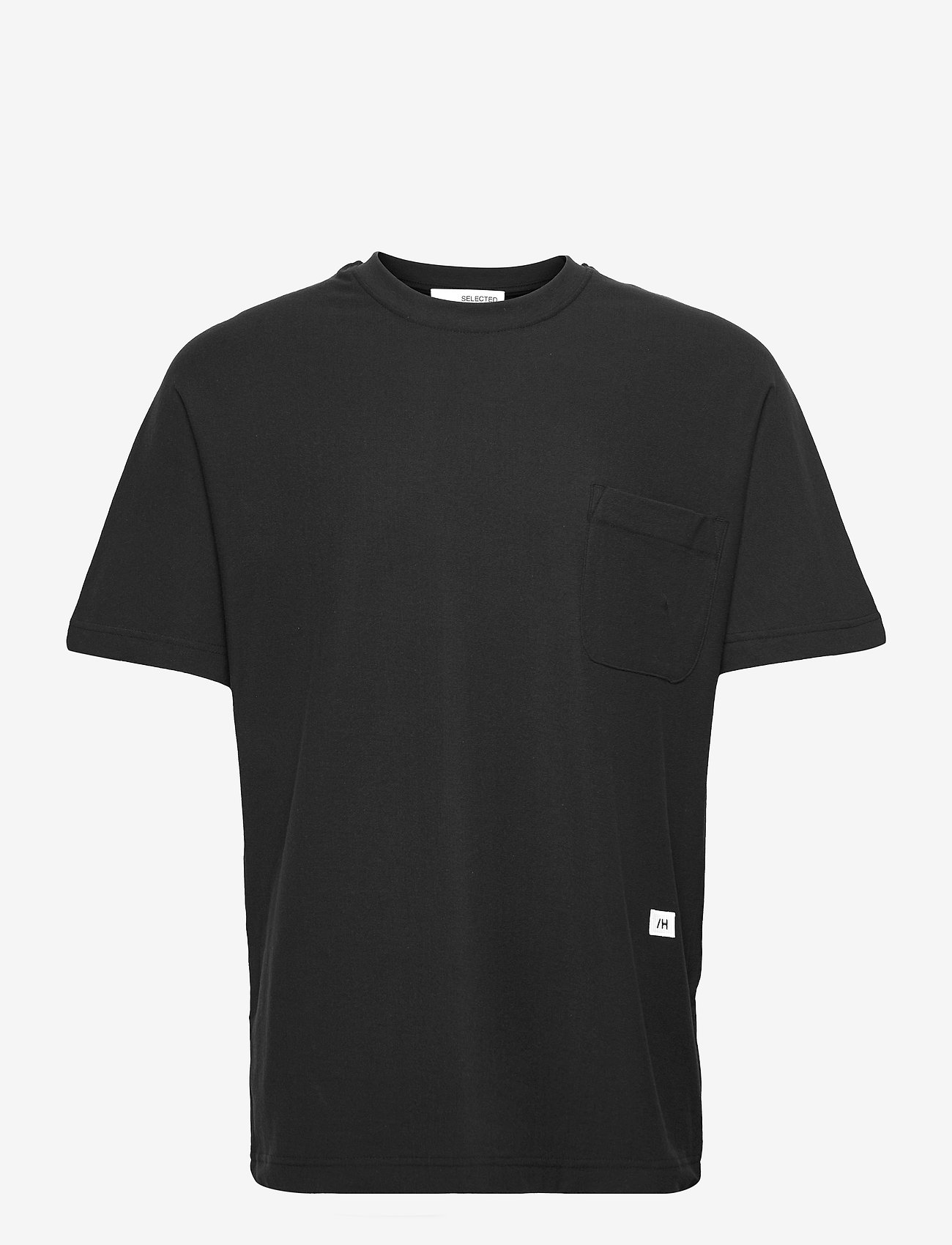 Selected Homme - SLHRELAXALBION SS O-NECK TEE G - t-shirts basiques - black - 0