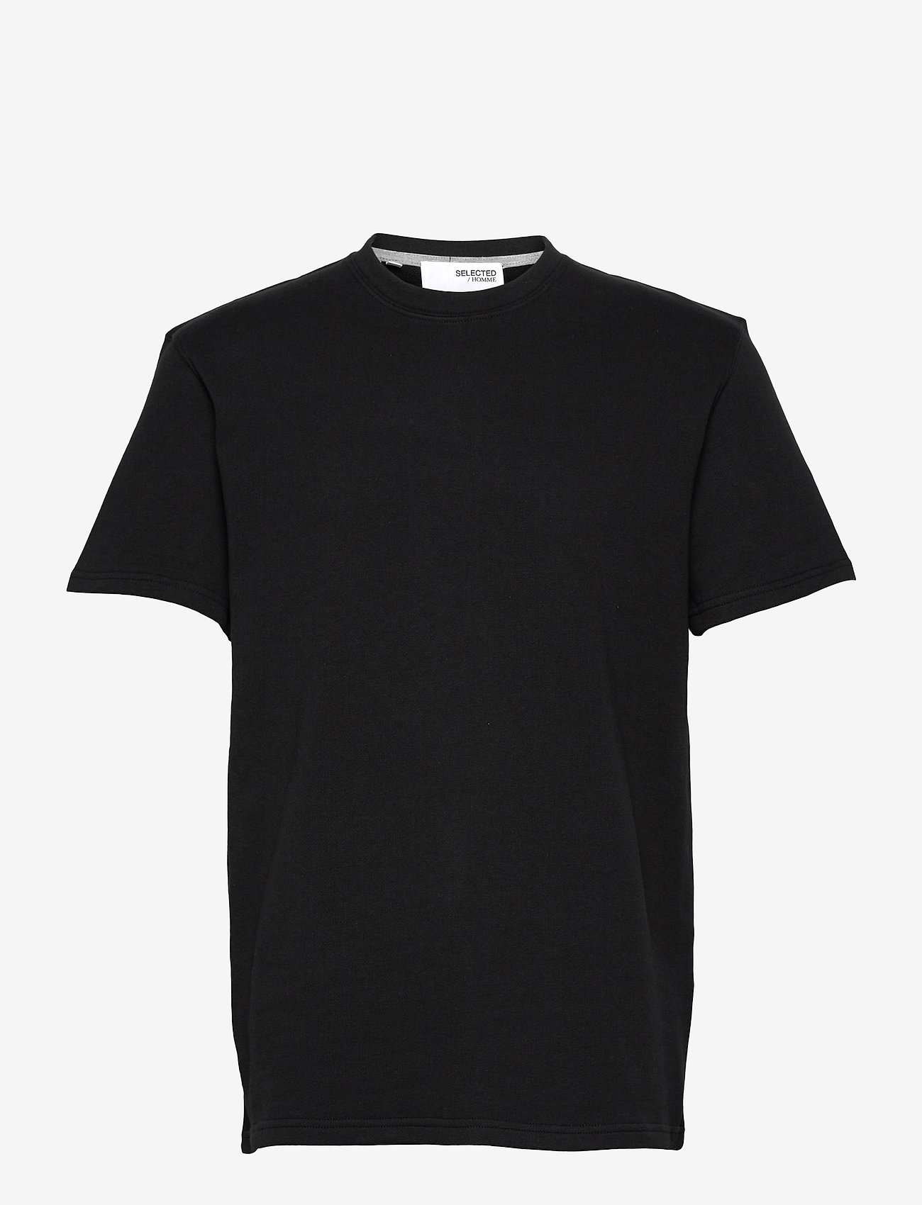 Selected Homme - SLHRELAXALFRED SS O-NECK SWEAT W - t-shirts basiques - black - 0