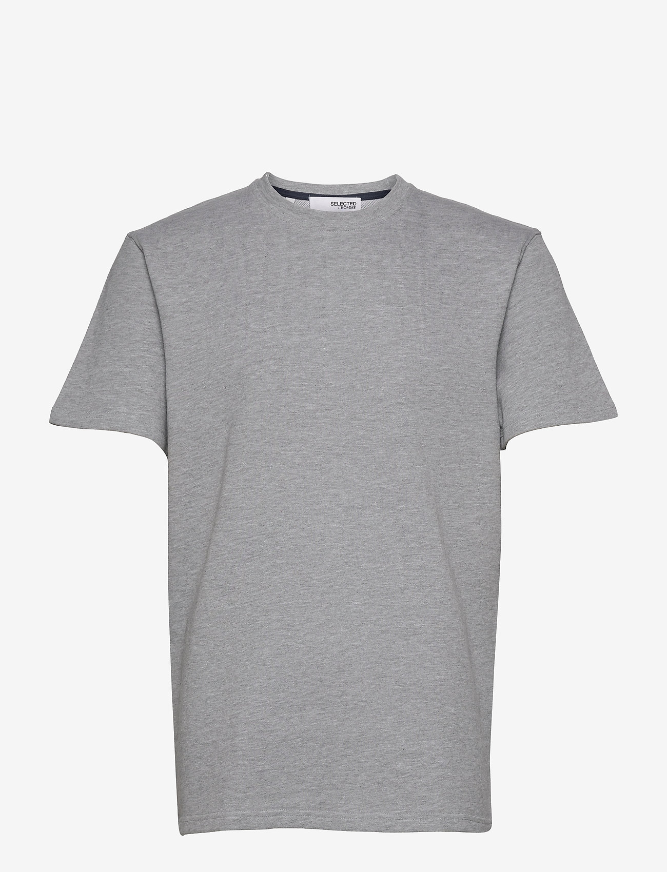Selected Homme - SLHRELAXALFRED SS O-NECK SWEAT W - t-shirts basiques - grey - 0