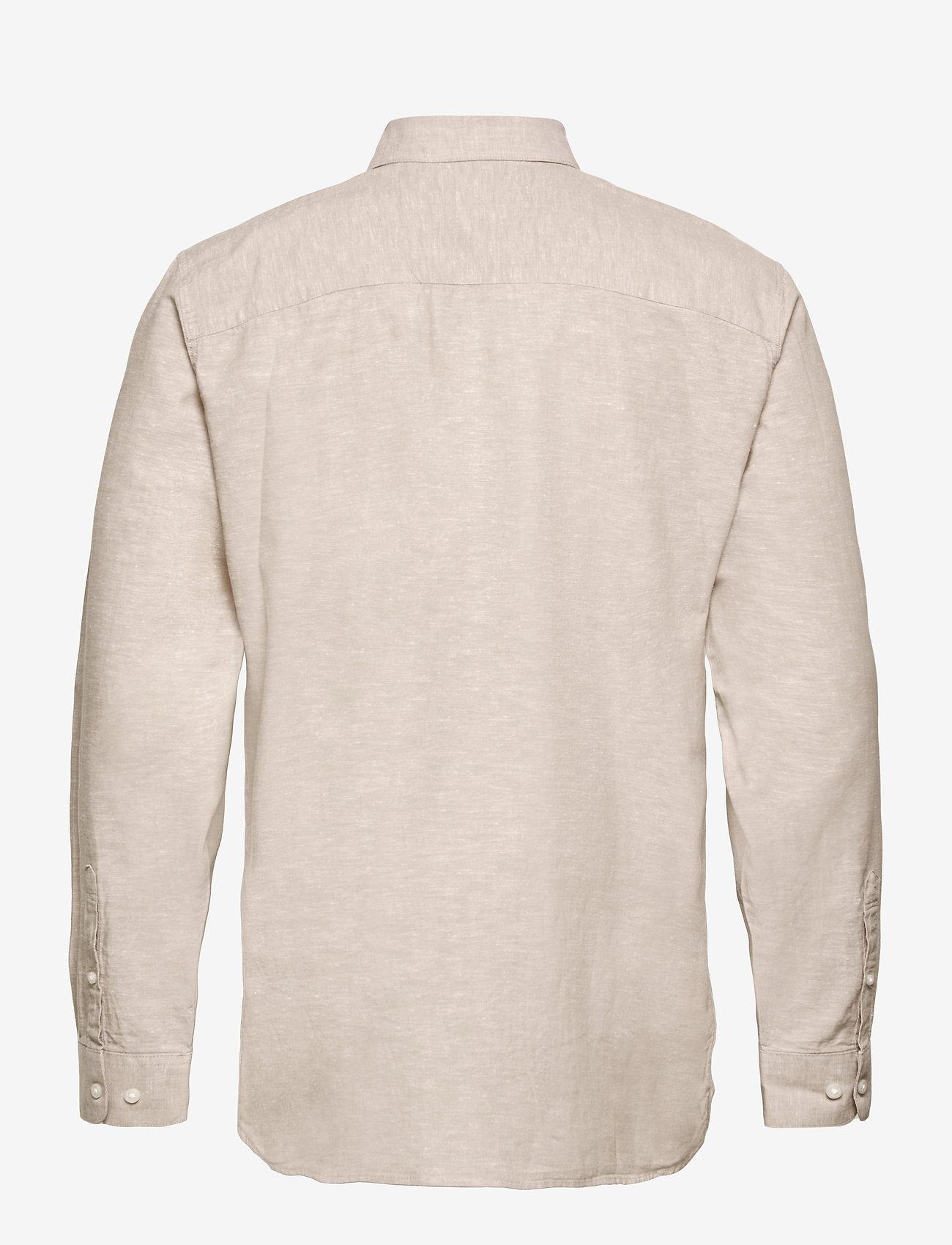 Selected Homme - SLHSLIMNEW-LINEN SHIRT LS CLASSIC W - chemises à carreaux - crockery - 1