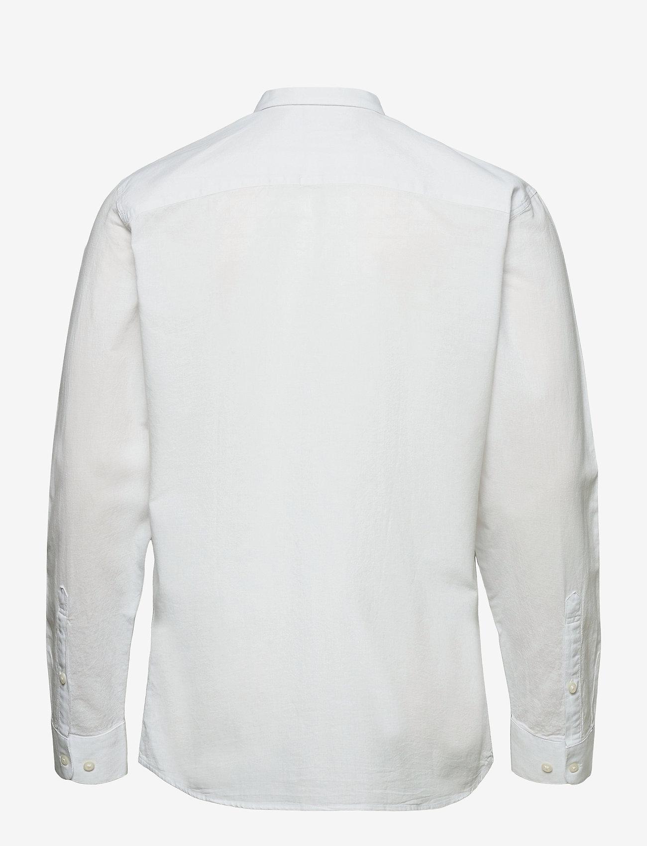 Selected Homme - SLHSLIMNEW-LINEN SHIRT LS CLASSIC W - chemises à carreaux - white - 1