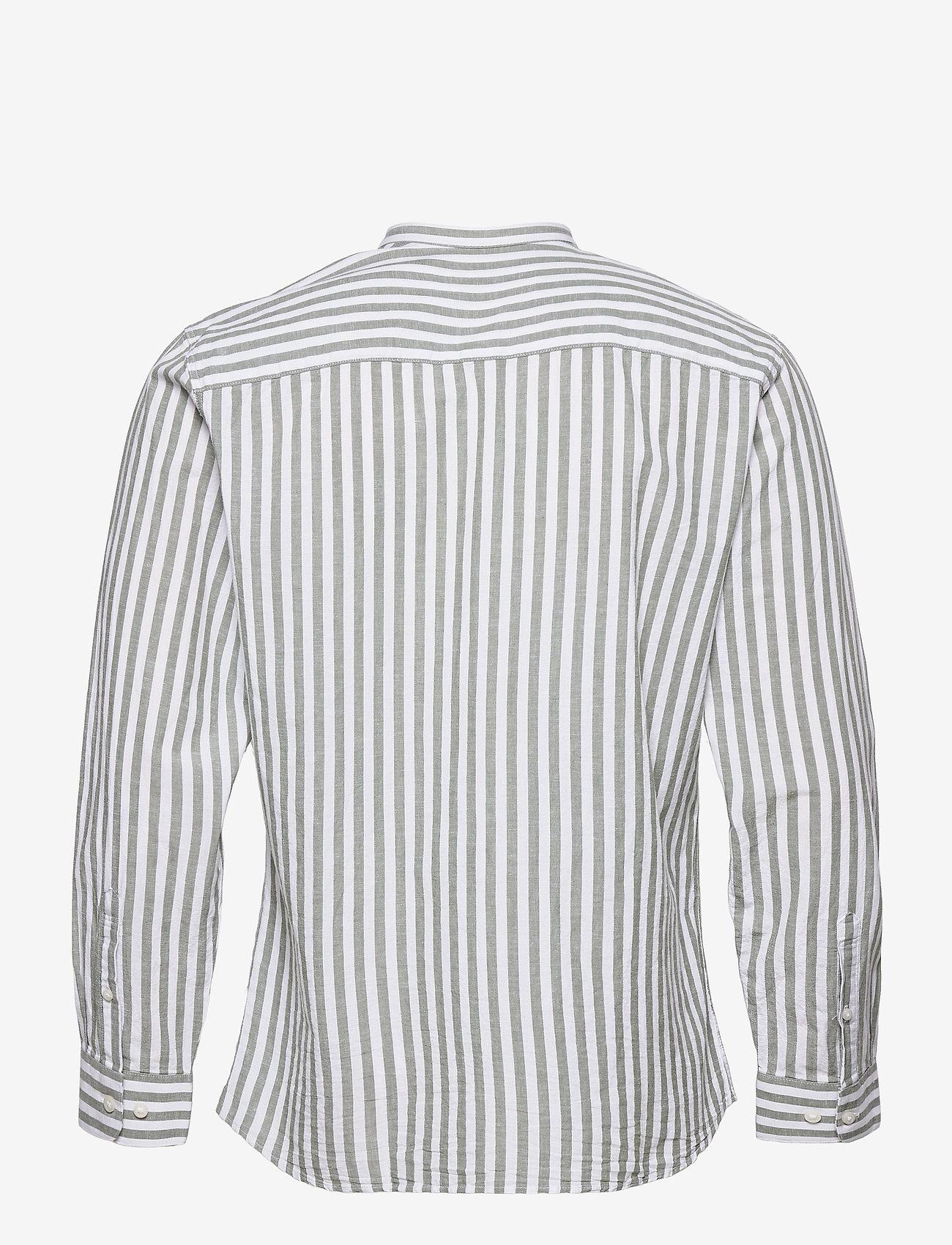 Selected Homme - SLHSLIMNEW-LINEN SHIRT LS CHINA W - koszule w kratkę - smoke green - 1