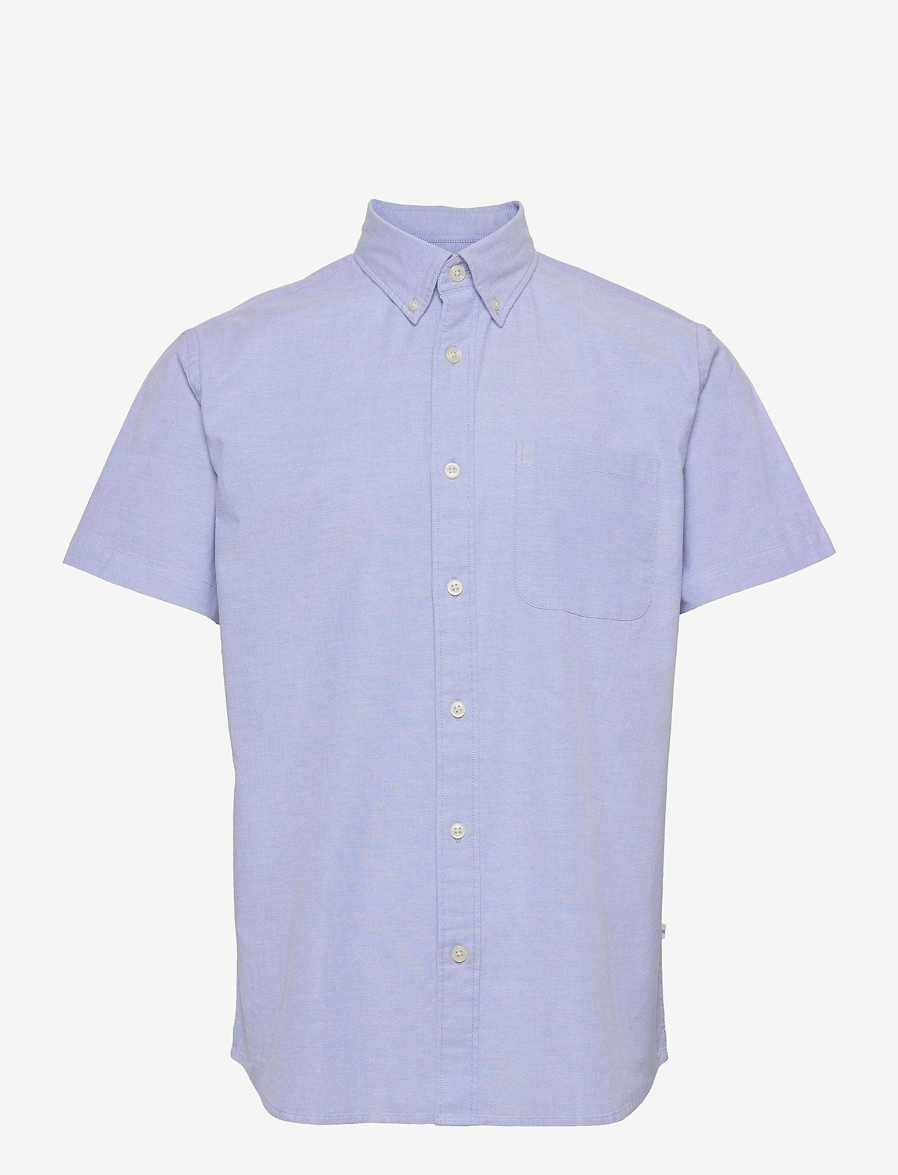 Selected Homme - SLHREGRICK-OX FLEX SHIRT SS S - chemises à carreaux - light blue - 0