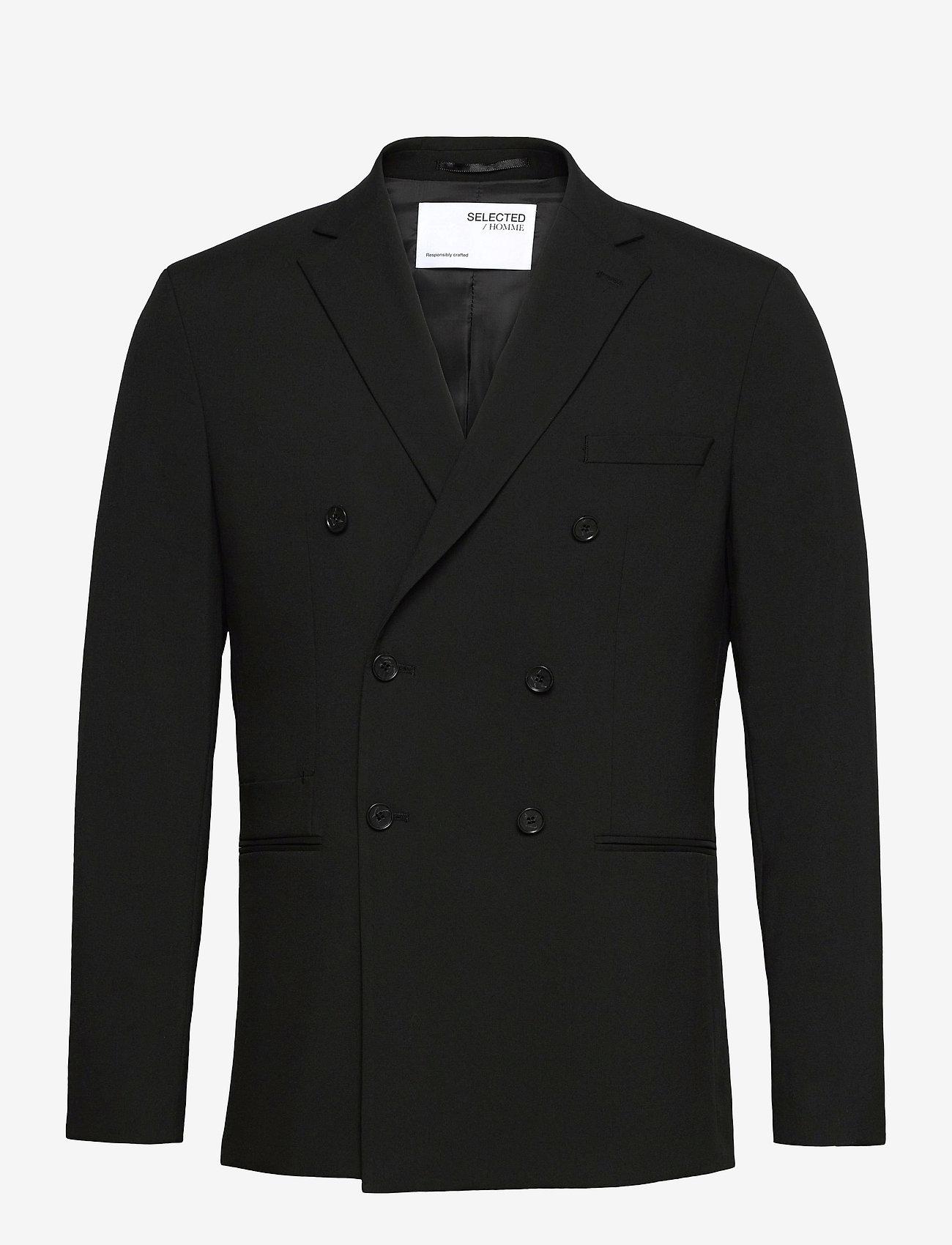 Selected Homme - SLHSLIM-MAZELOGAN DB BLACK BLAZER B - blazers met dubbele knopen - black - 0