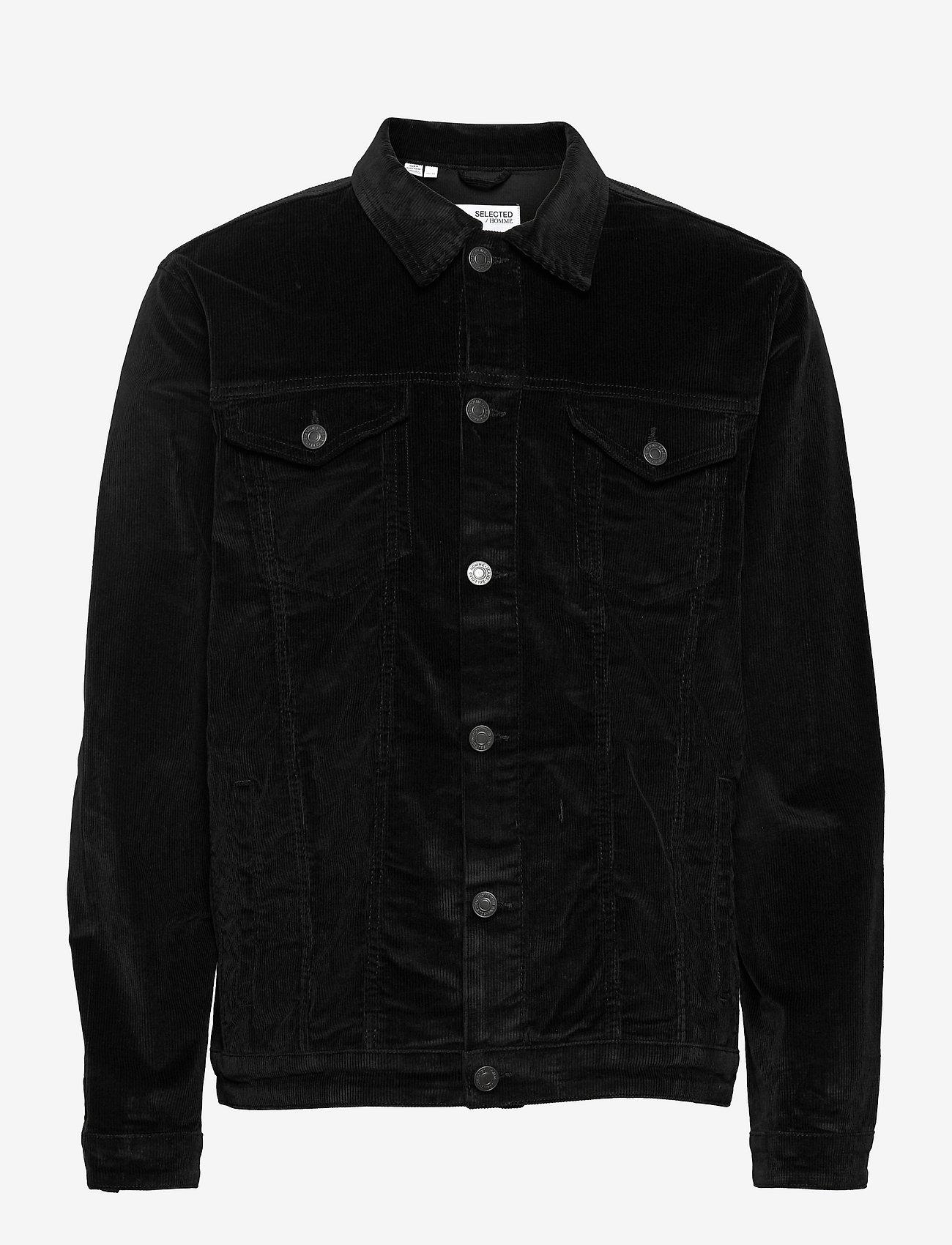 Selected Homme - SLHJEPPE CORDUROY JACKET M - spijkerjassen - black - 0