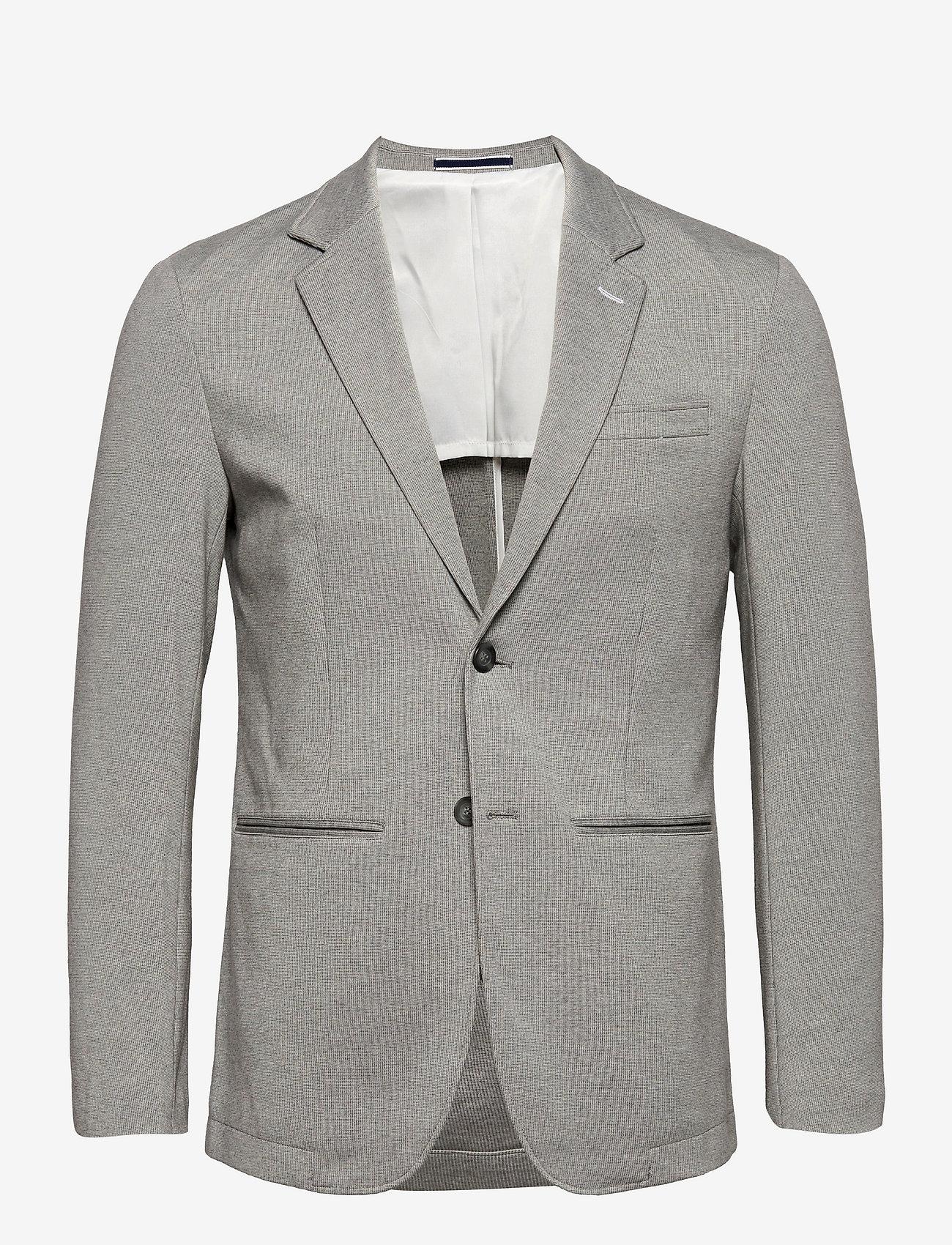 Selected Homme - SLHSLIM-RAFFLZ - blazers met enkele rij knopen - light grey melange - 0