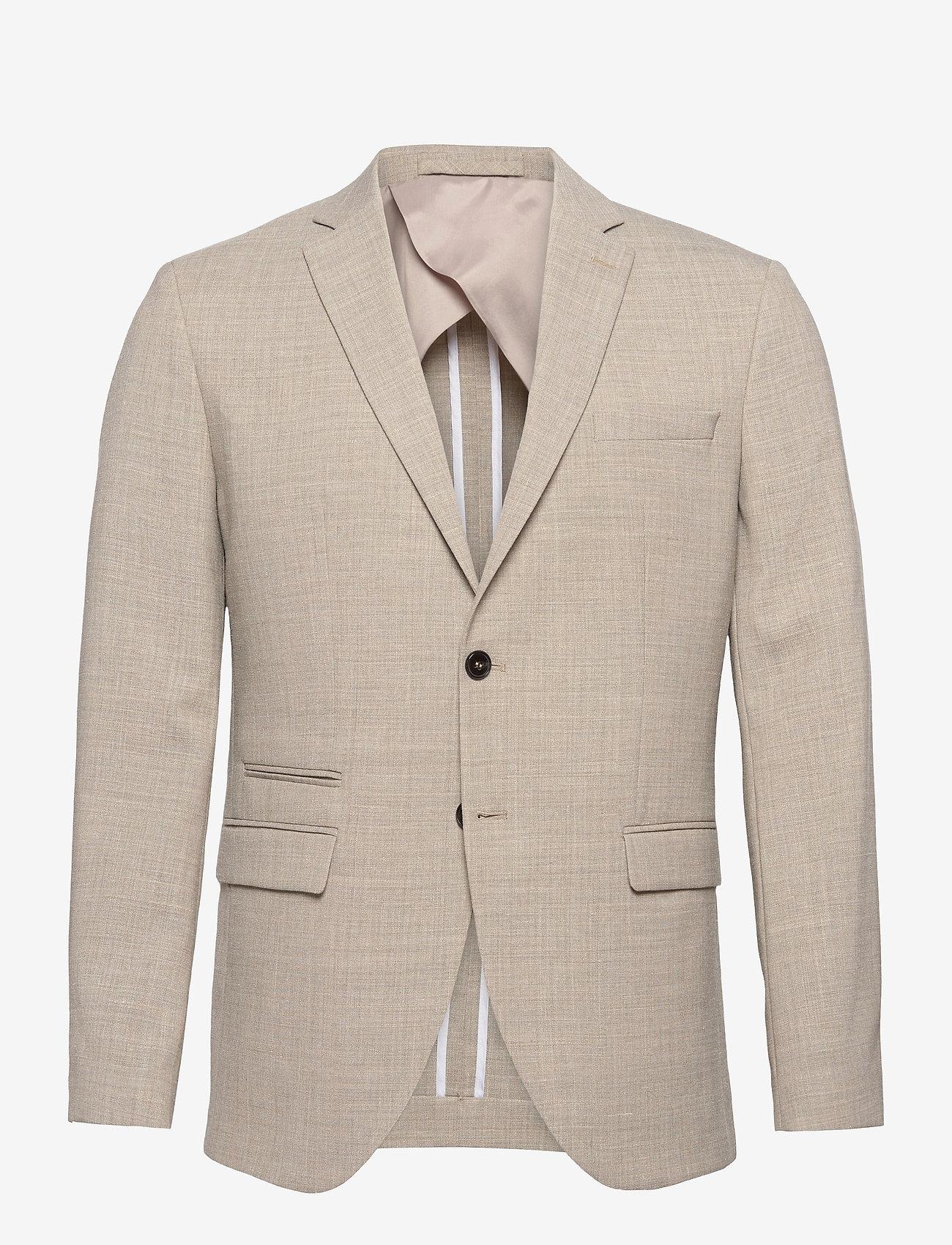 Selected Homme - SLHSLIM-OASIS LIGHT SANDLZ - single breasted blazers - sand - 0
