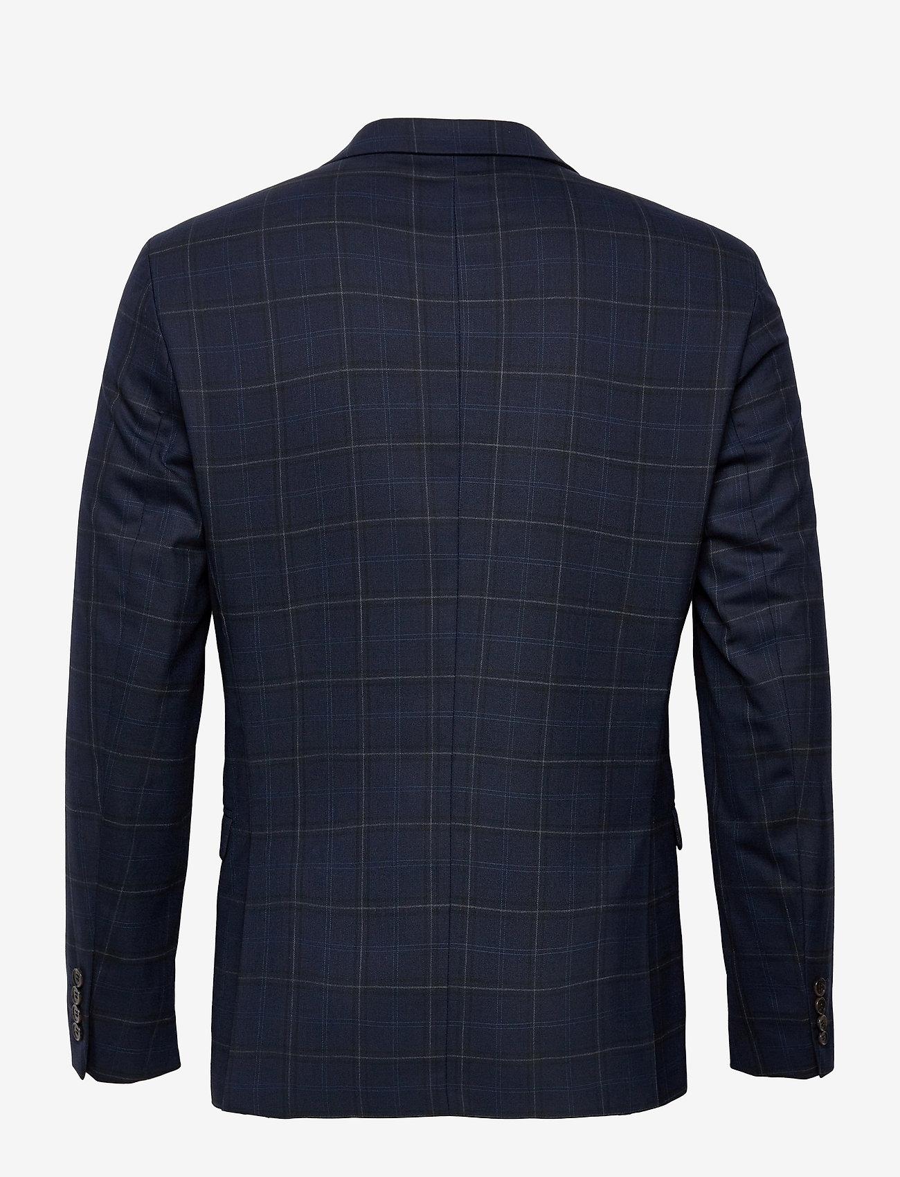 Selected Homme - SLHSLIM-MYLOBILL DK BLU GRCHK BLZ B - blazers met enkele rij knopen - dark blue - 1