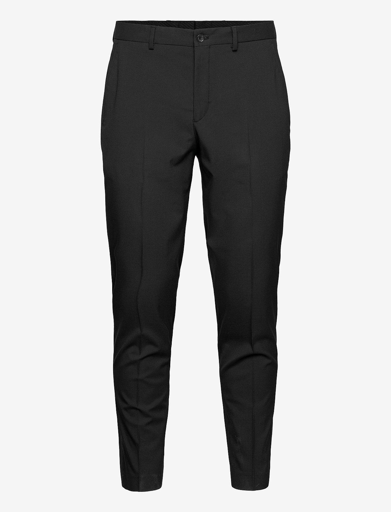 Selected Homme - SLHSLIM-MYLOLOGAN BLACK CROP TRS B - casual broeken - black - 0