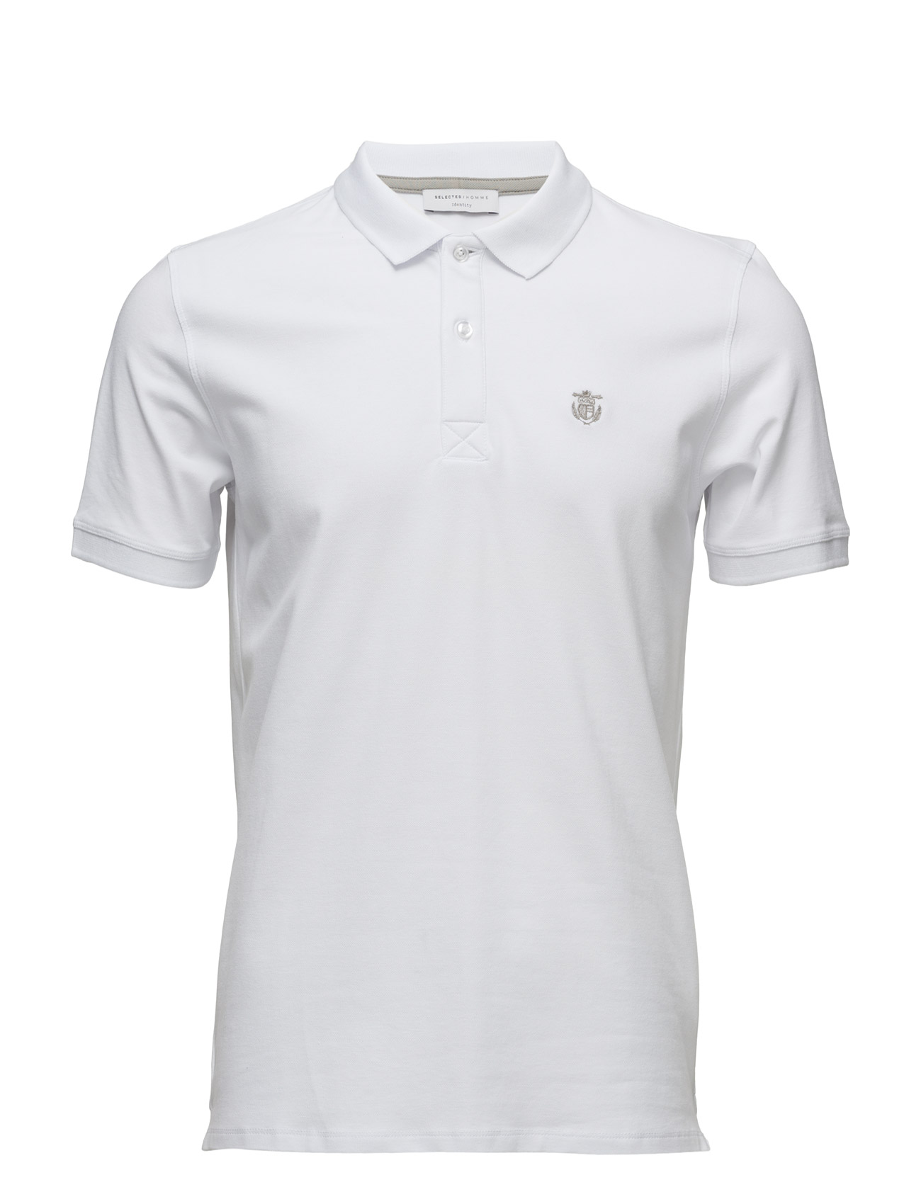 Shdaro Ss Embroidery Polo Noos Bright White 24 99 Selected
