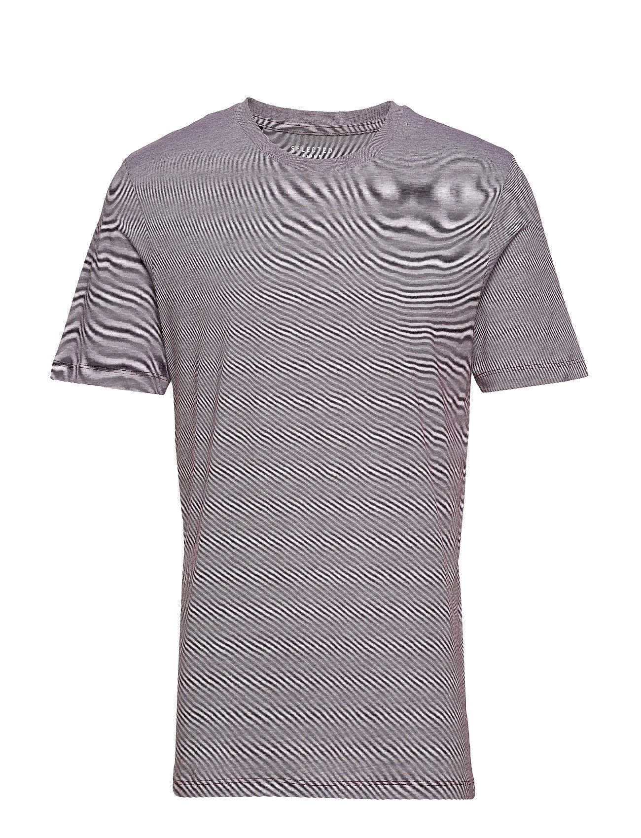 Selected Homme SLHTHEPERFECT MELANGE SS O-NECK TEE B - WINETASTING