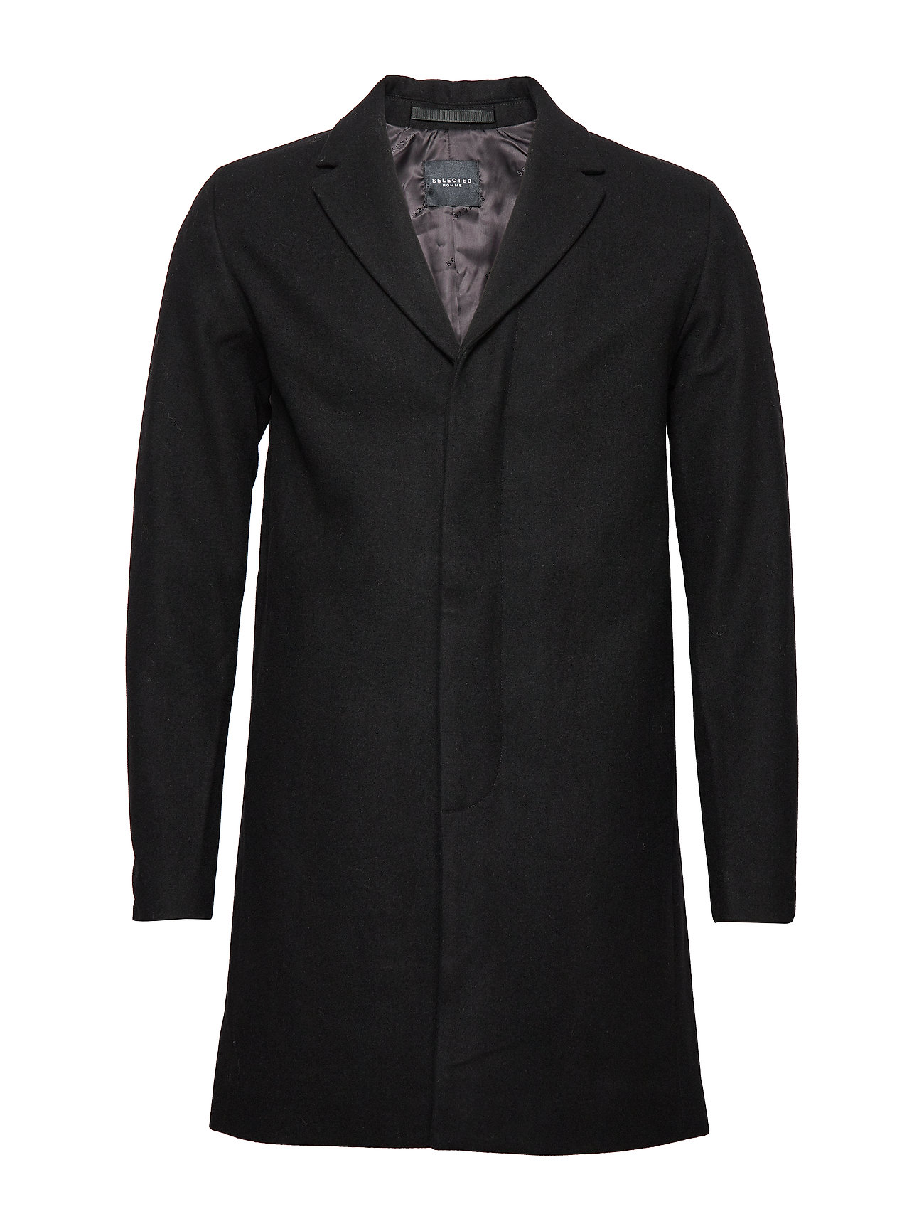 Selected Homme SLHBROVE WOOL COAT B - BLACK