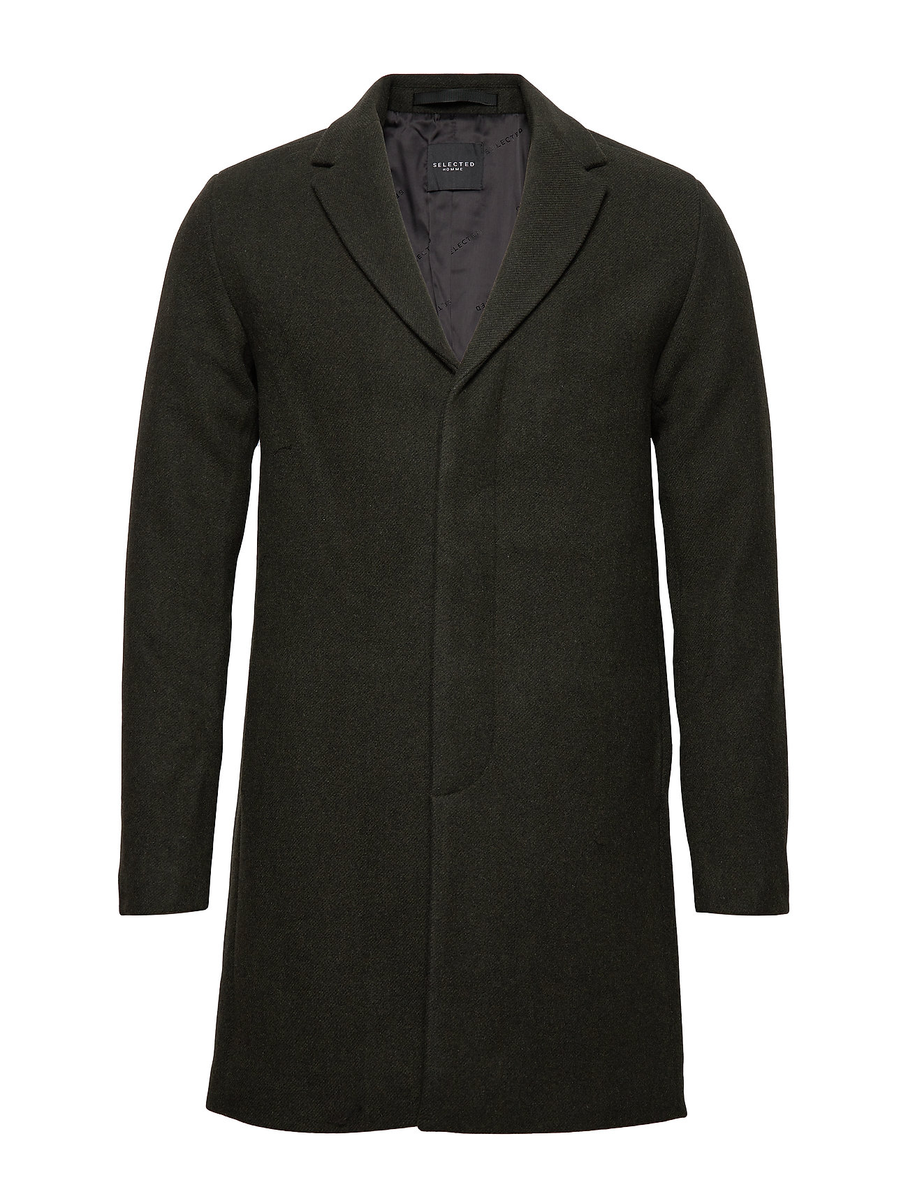 Selected Homme SLHBROVE WOOL COAT B - FOREST NIGHT
