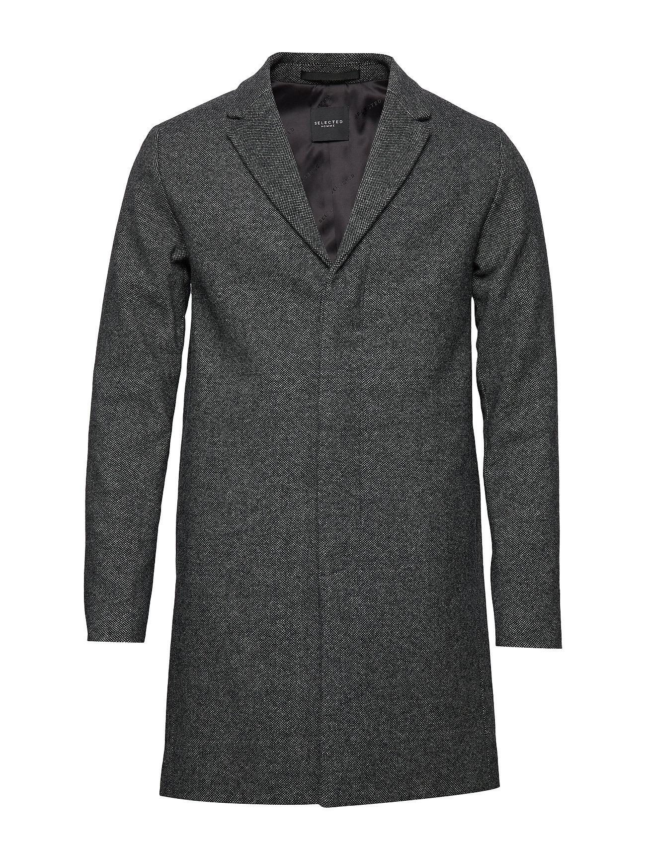 SELECTED Slhbrove Wool Coat B Noos Wollmantel Mantel Grau SELECTED HOMME