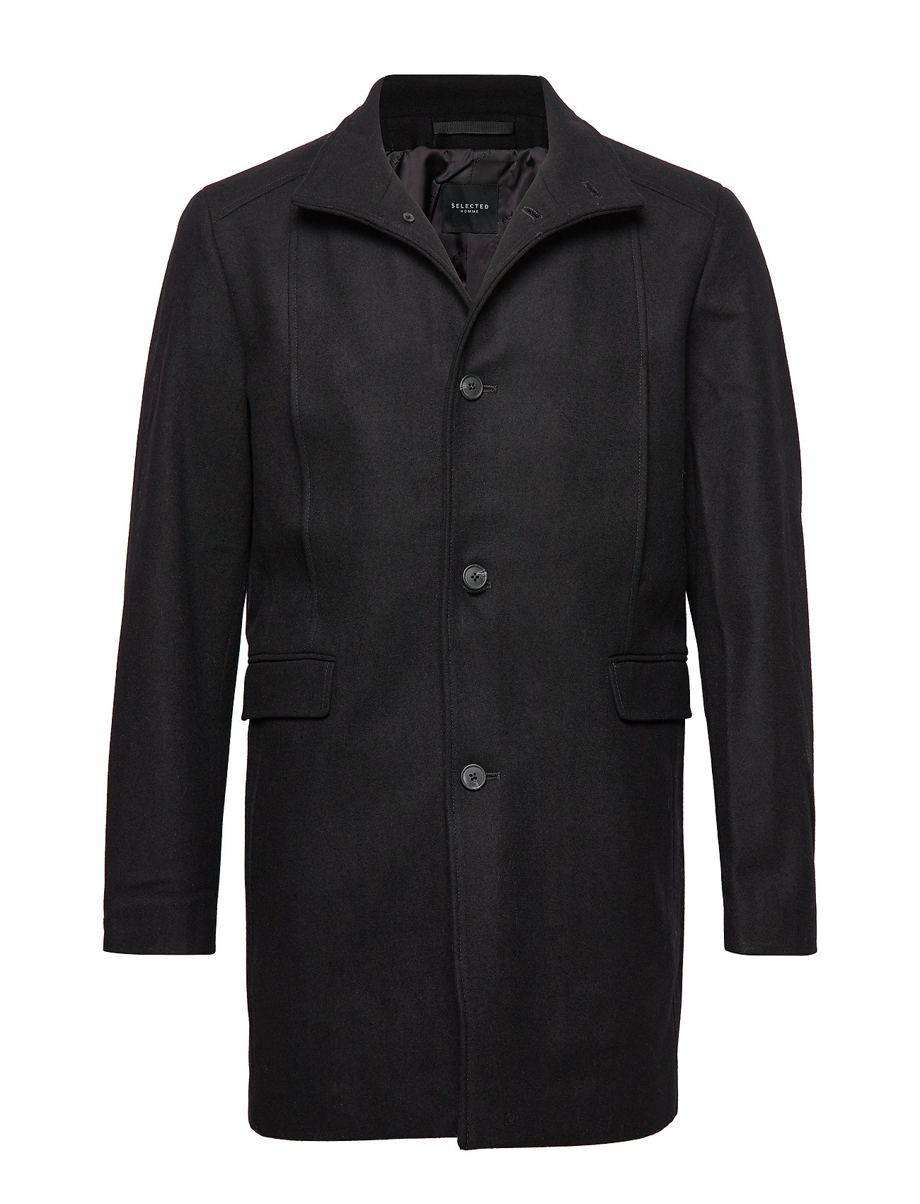Selected Homme SLHMOSTO WOOL COAT B NOOS - BLACK