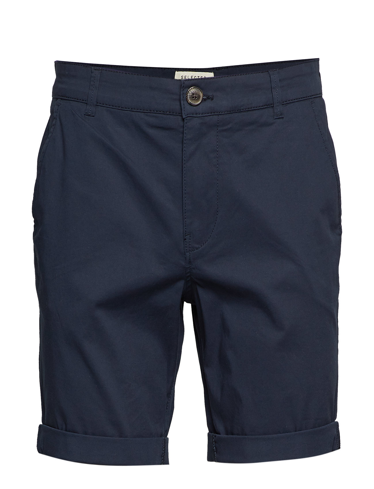 Selected Homme - SLHSTRAIGHT-PARIS SHORTS W NOOS - spodenki chinos - dark sapphire - 0