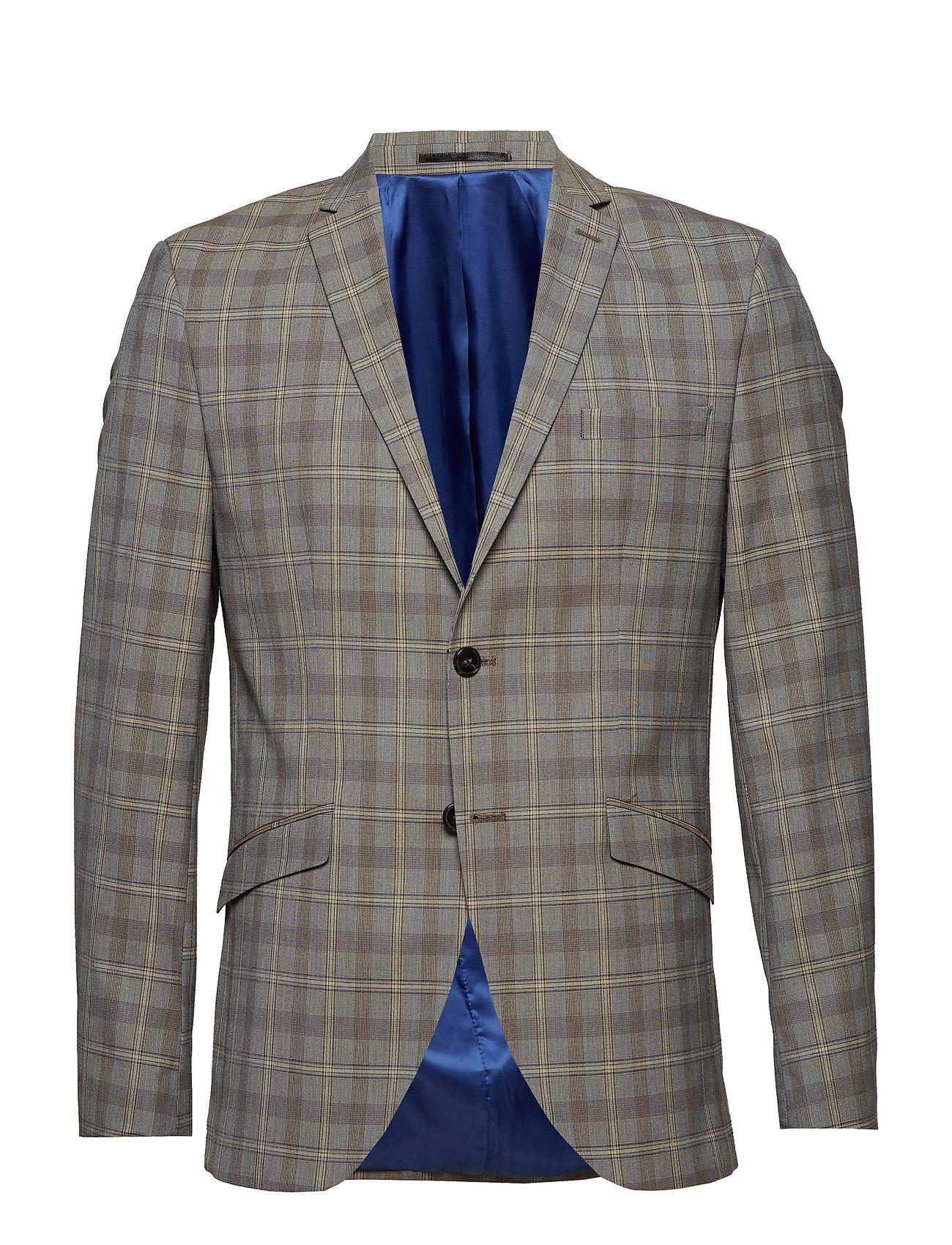 Selected Homme SLHSLIM RICLOGAN SAND CHECK BLAZER B Kostymer & kavajer