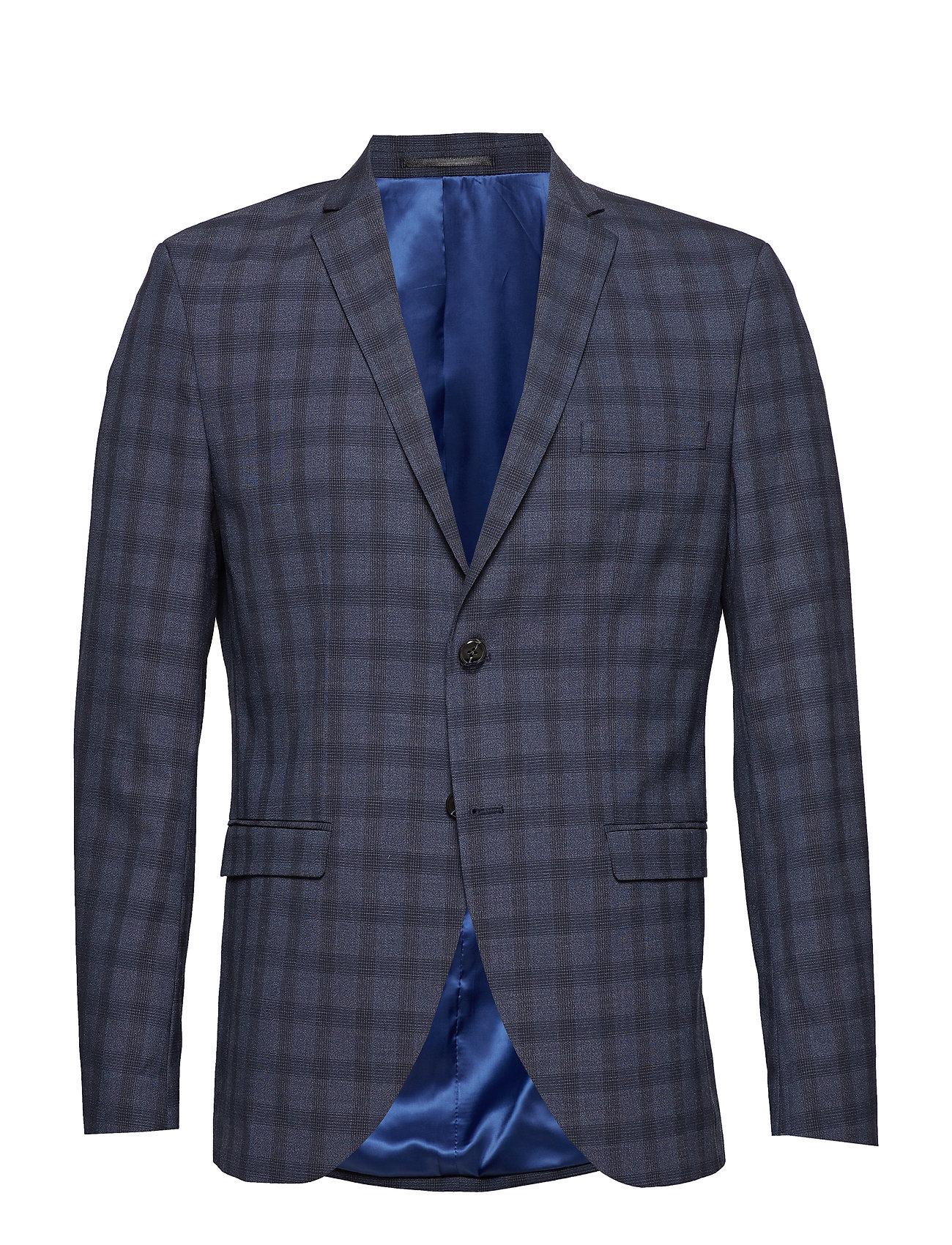 Selected Homme SLHSLIM-MYLOLOGAN NAVY CHECK BLZ B NOOS - NAVY BLUE