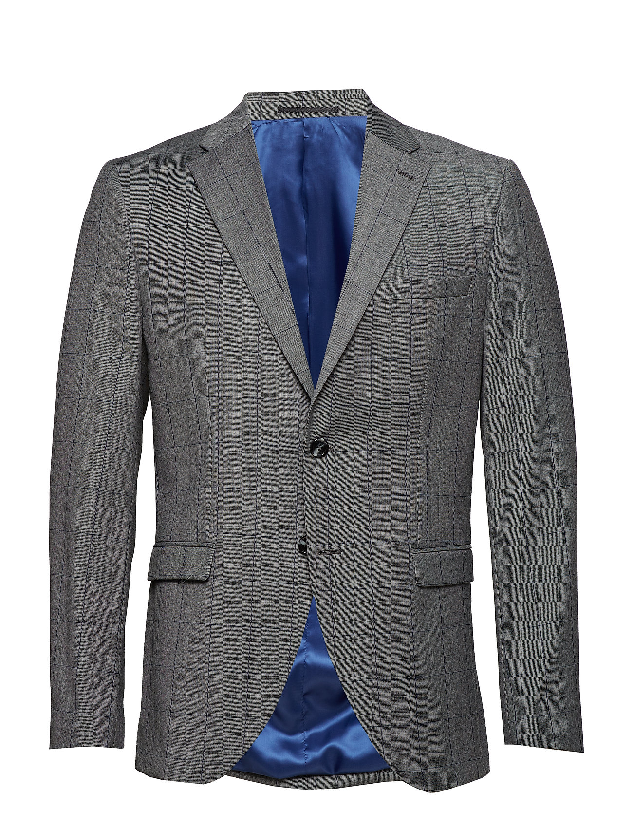 Selected Homme SLHSLIM MYLguldB grå CHECK BLZ B NOOS Kostymer & kavajer