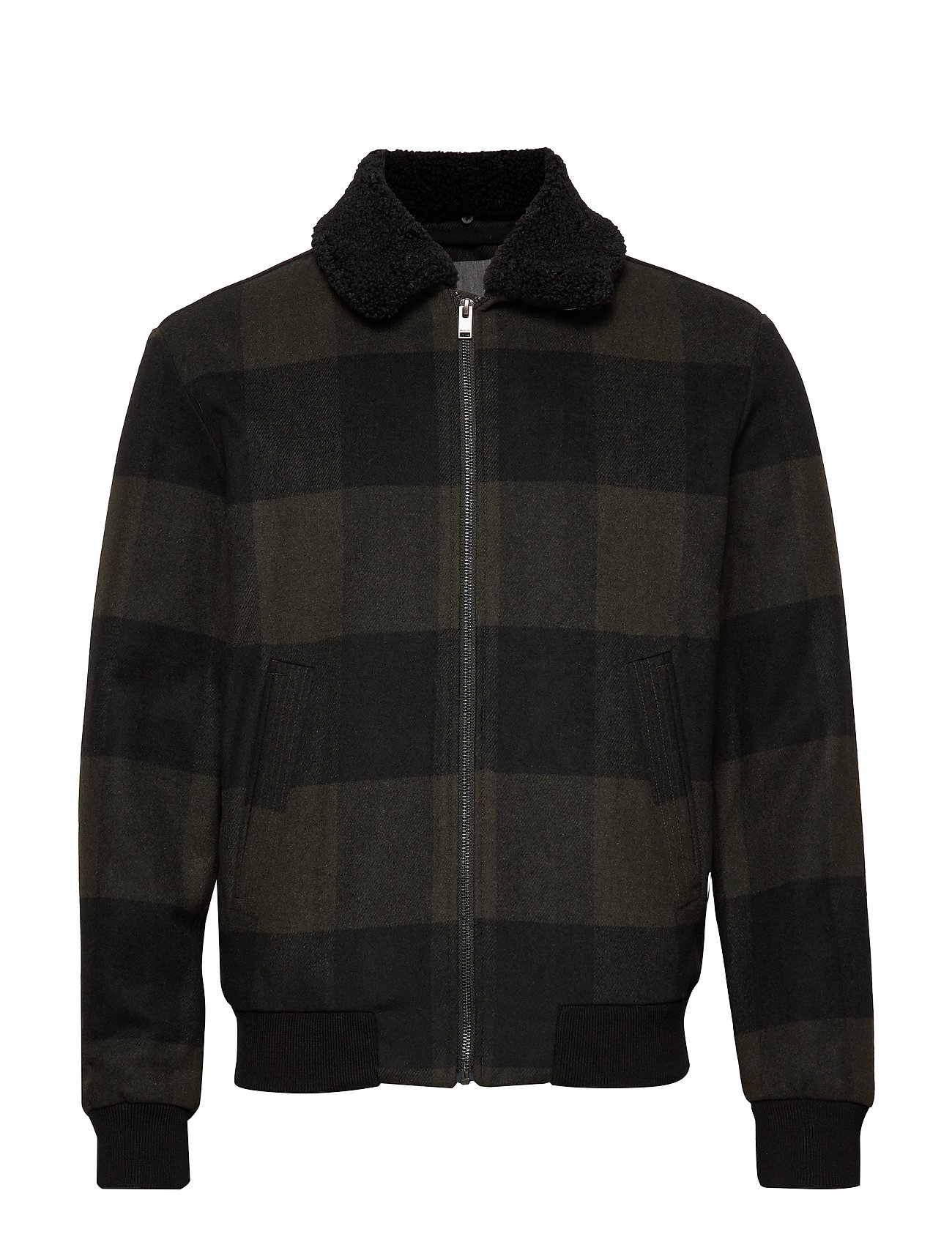 Selected Homme SLHUNI WOOL BOMBER W - OLIVE NIGHT