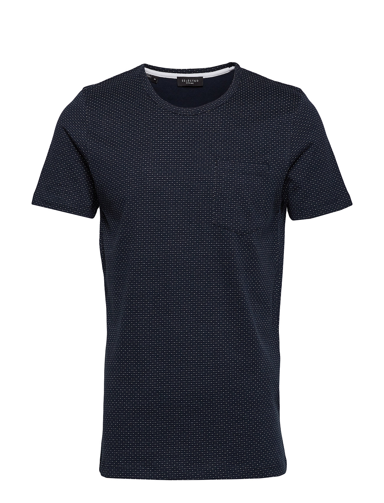 Selected Homme SLHMUTE SS O-NECK TEE B - DARK SAPPHIRE