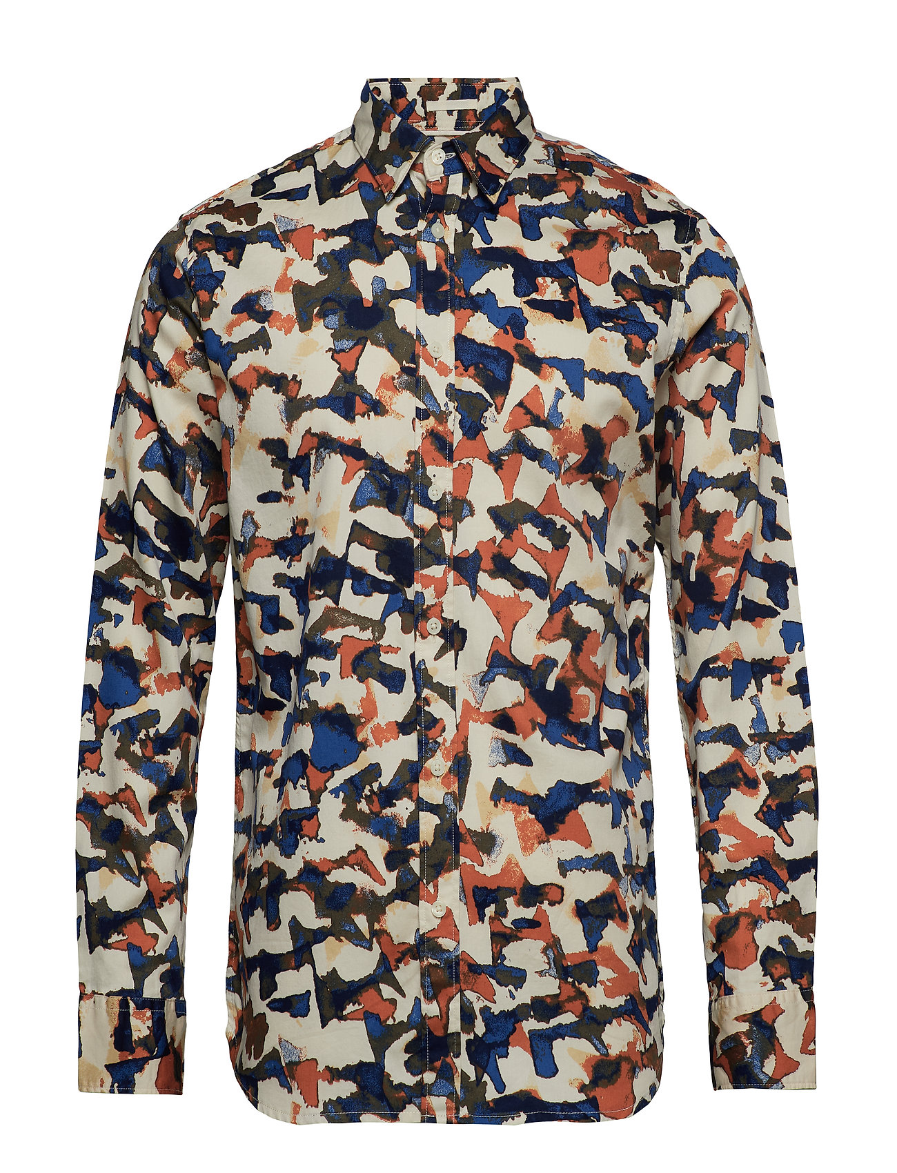 Selected Homme SLHSLIMBRYSON-CAMO SHIRT LS AOP W - BONE WHITE