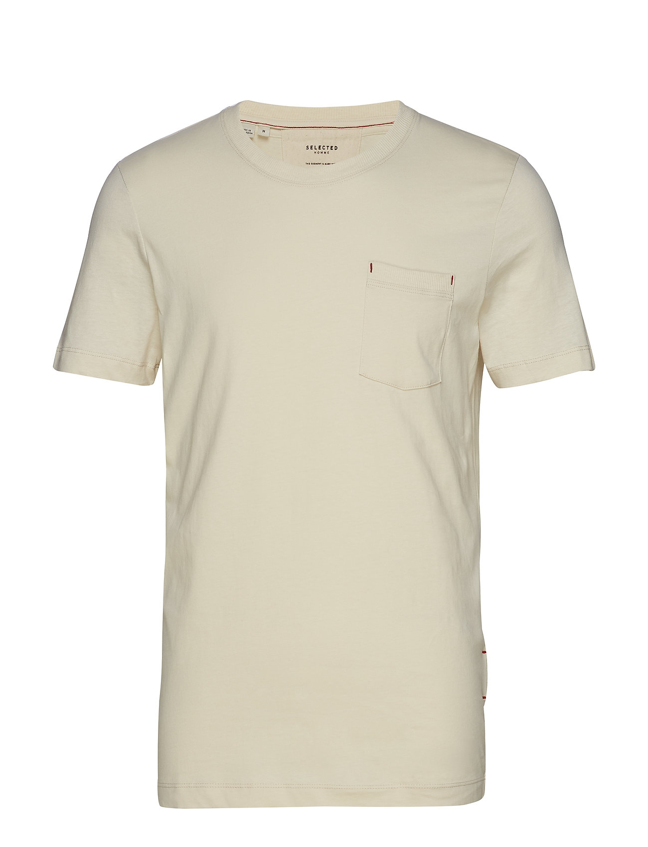 Selected Homme SLHJARED SS O-NECK TEE W - BONE WHITE