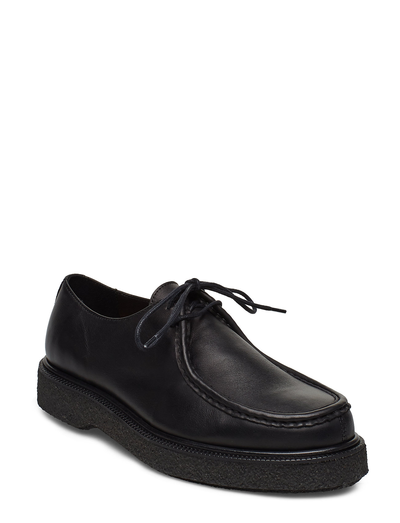 SELECTED Slhstephan Leather Moc-Toe Shoe B Shoes Business Laced Shoes Schwarz SELECTED HOMME