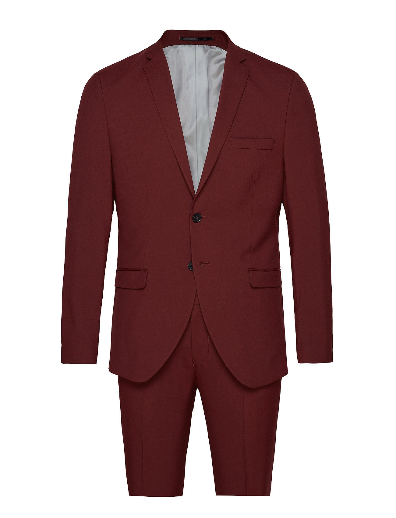 Selected Homme SLHSLIM-MYLOLOGAN DK RED SUIT B EX - BURGUNDY