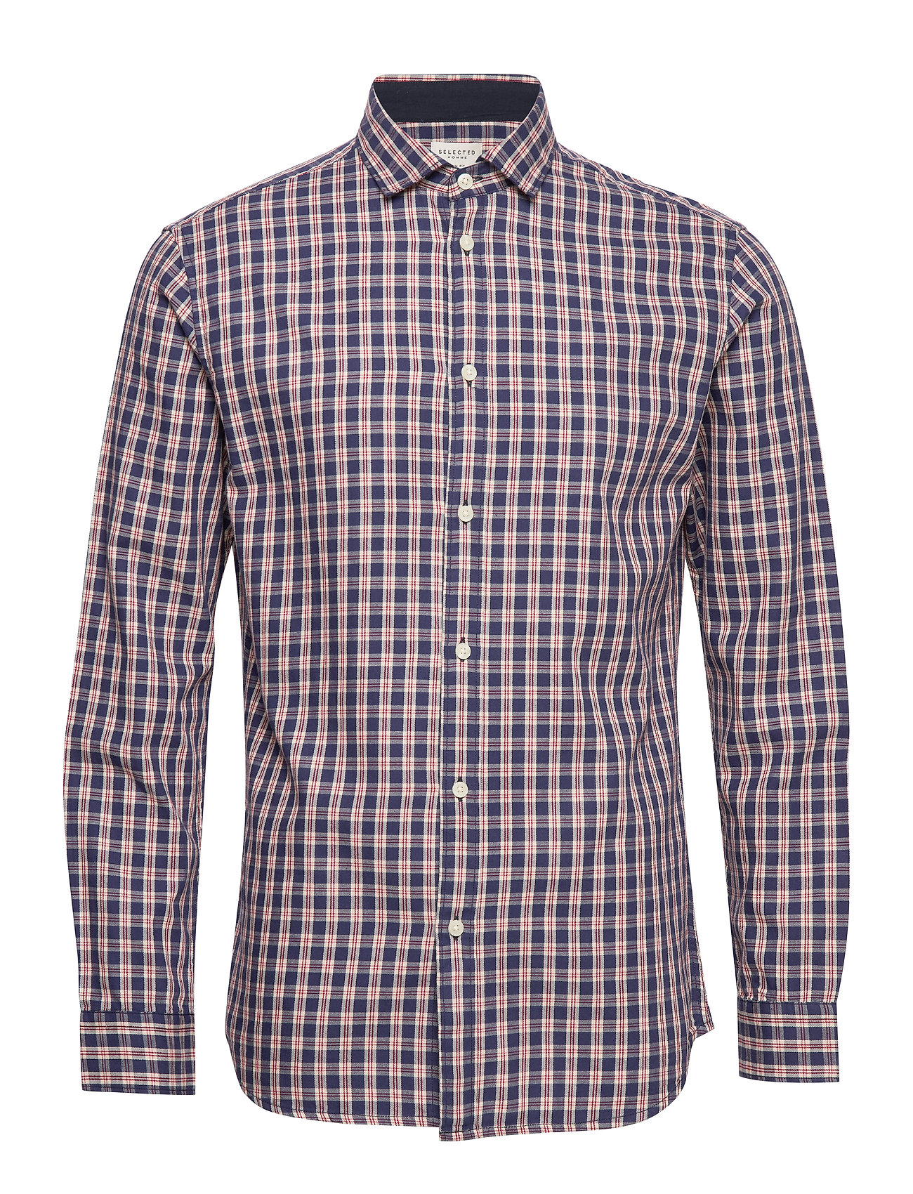 Selected Homme SLHSLIMMARK-WASHED SHIRT LS W - RED DAHLIA