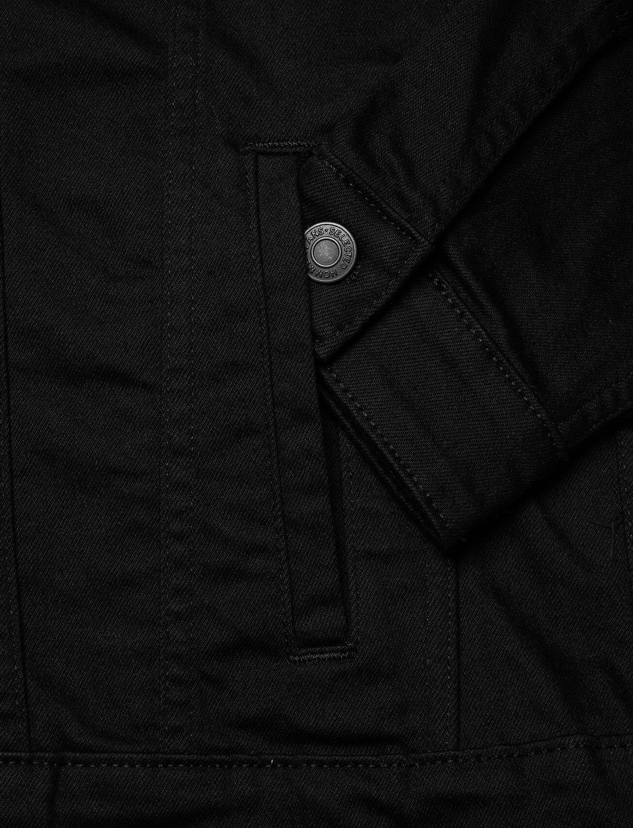 Selected Homme - SLHJEPPE 4001 BLACK DENIM JACKET U - vestes en jean - black denim - 4