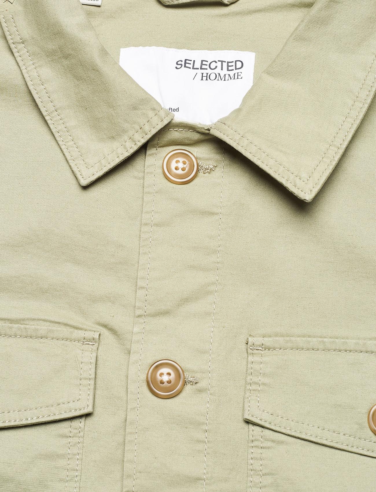 Selected Homme - SLHELLIOT LINEN SHIRT JACKET W - kleding - tea - 2