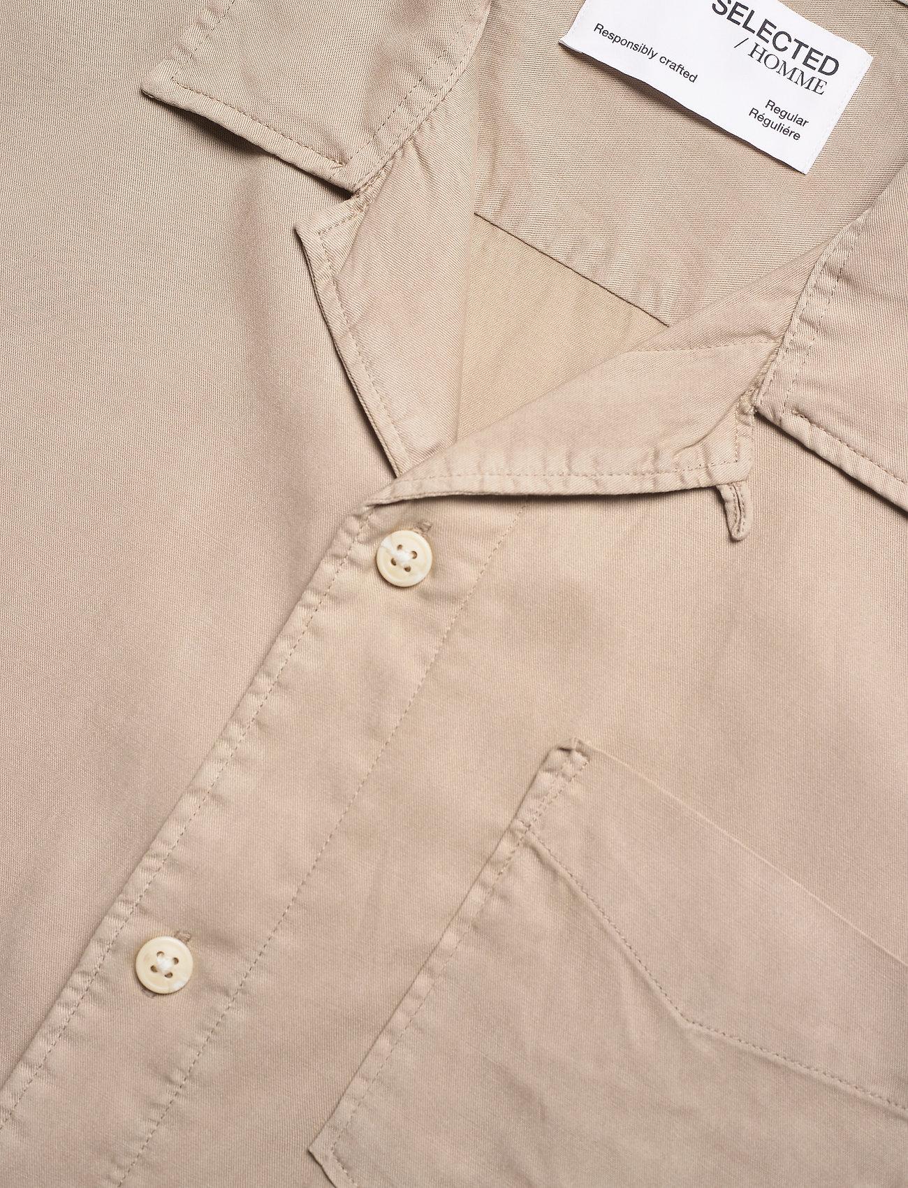 Selected Homme - SLHREGSOFT CUBAN SHIRT SS W - chemises à carreaux - crockery - 3
