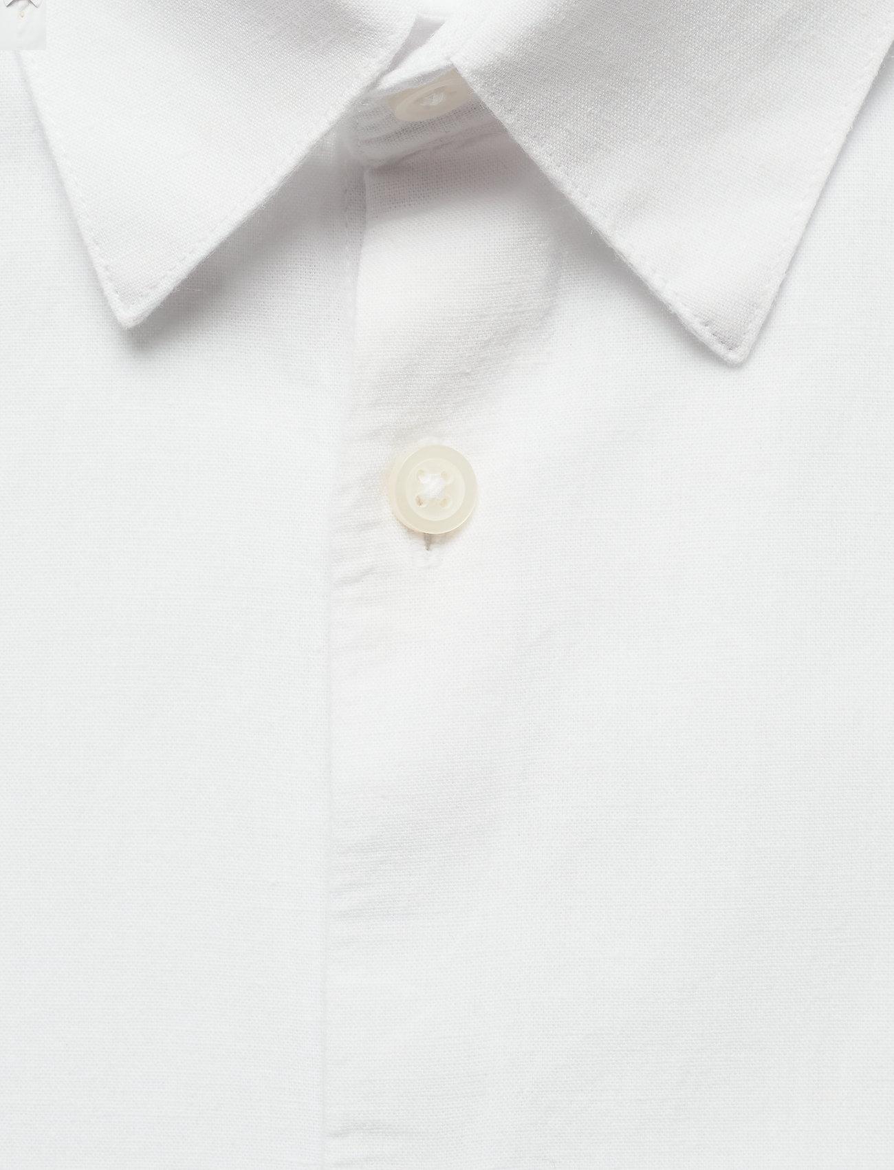 Selected Homme - SLHSLIMNEW-LINEN SHIRT LS CLASSIC W - chemises à carreaux - white - 2