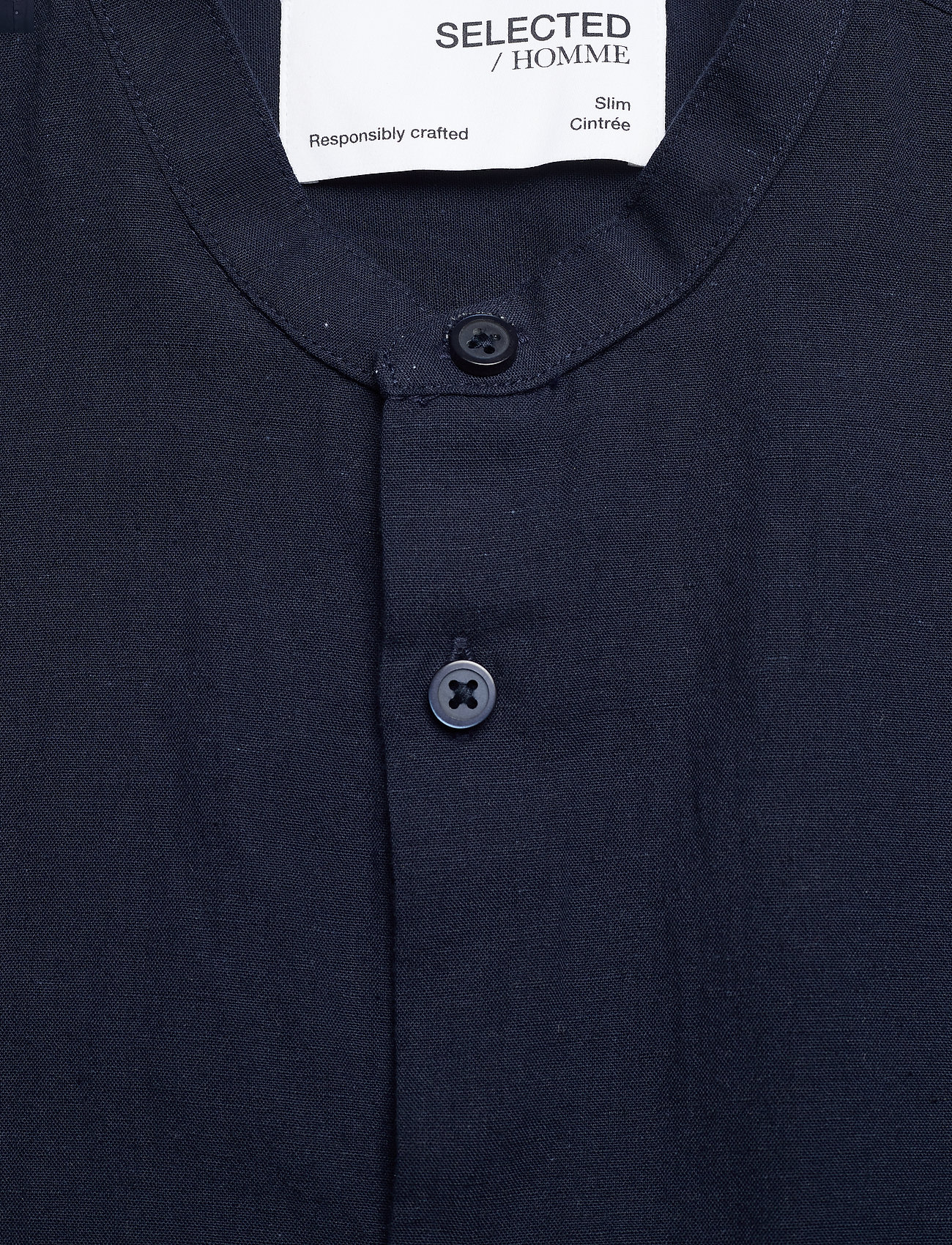 Selected Homme - SLHSLIMNEW-LINEN SHIRT LS CHINA W - koszule lniane - navy blazer - 2