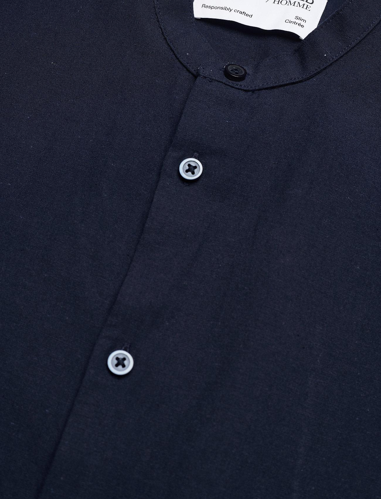 Selected Homme - SLHSLIMNEW-LINEN SHIRT LS CHINA W - koszule lniane - navy blazer - 3