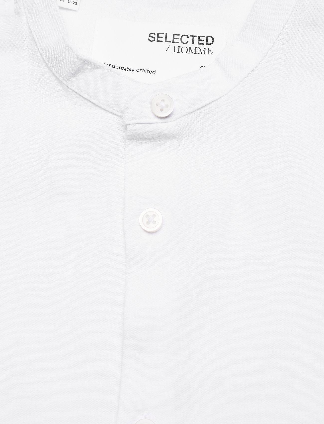 Selected Homme - SLHSLIMNEW-LINEN SHIRT LS CHINA W - koszule w kratkę - white - 2