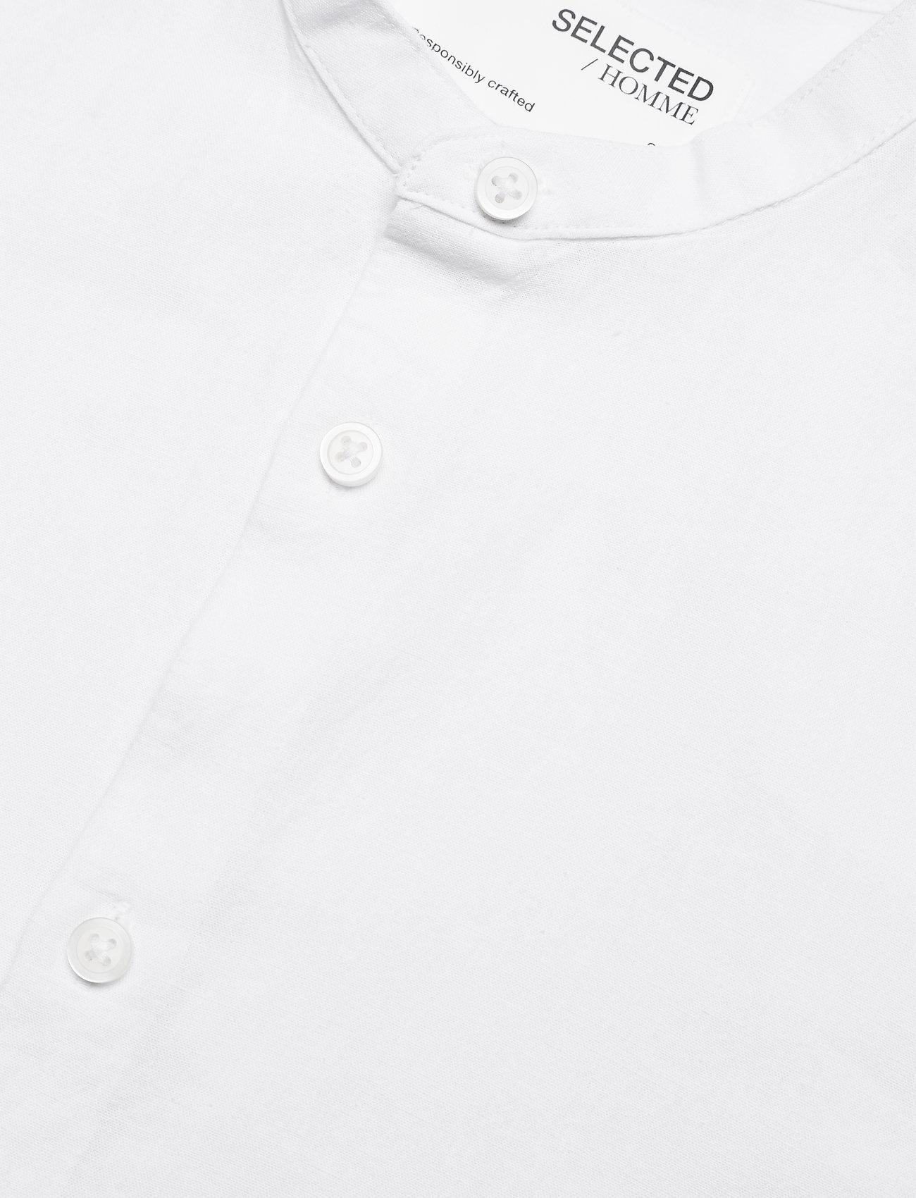 Selected Homme - SLHSLIMNEW-LINEN SHIRT LS CHINA W - koszule w kratkę - white - 3