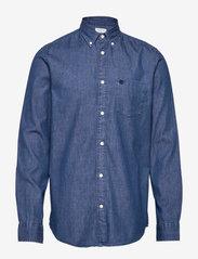 Collect shirt ls r   H - MEDIUM BLUE DENIM