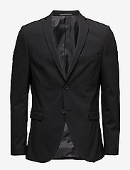 Selected Homme - SLHSLIM-MYLOLOGAN BLACK BLAZER B NOOS - enkeltradede jakkesæt - black - 0