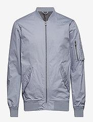 Selected Homme - SHNJASPER BOMBER JKT - bomber jackets - flint stone - 0